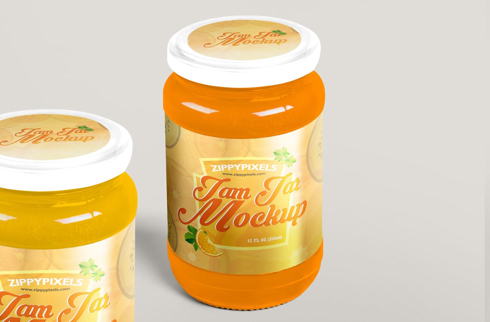 customizable free jam packaging mockup