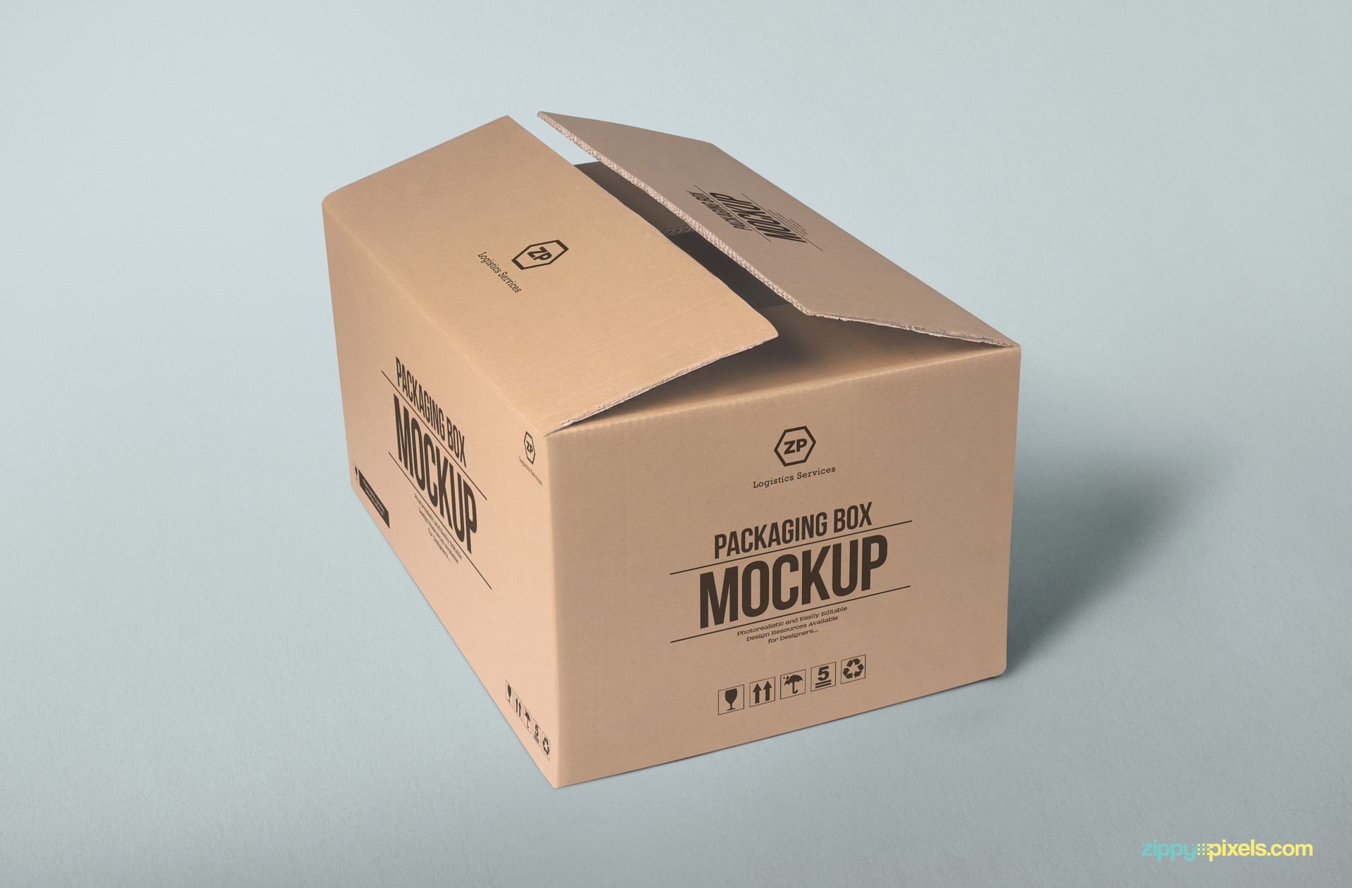 Packaging Box Mockup Free Psd Download Zippypixels