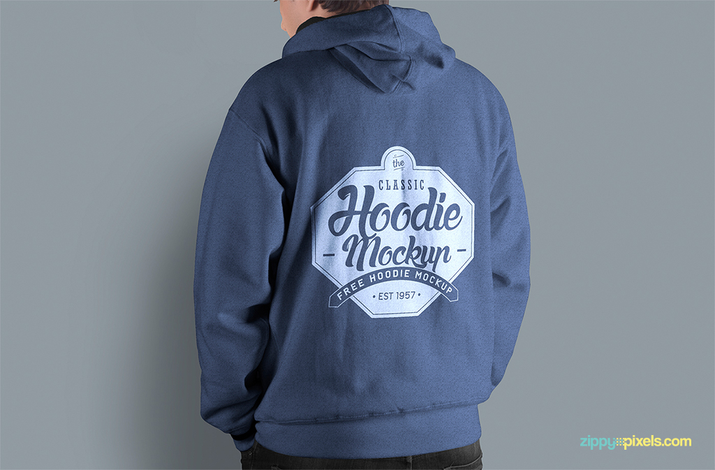 free hoodie mockup psd to showcase your clothing designs