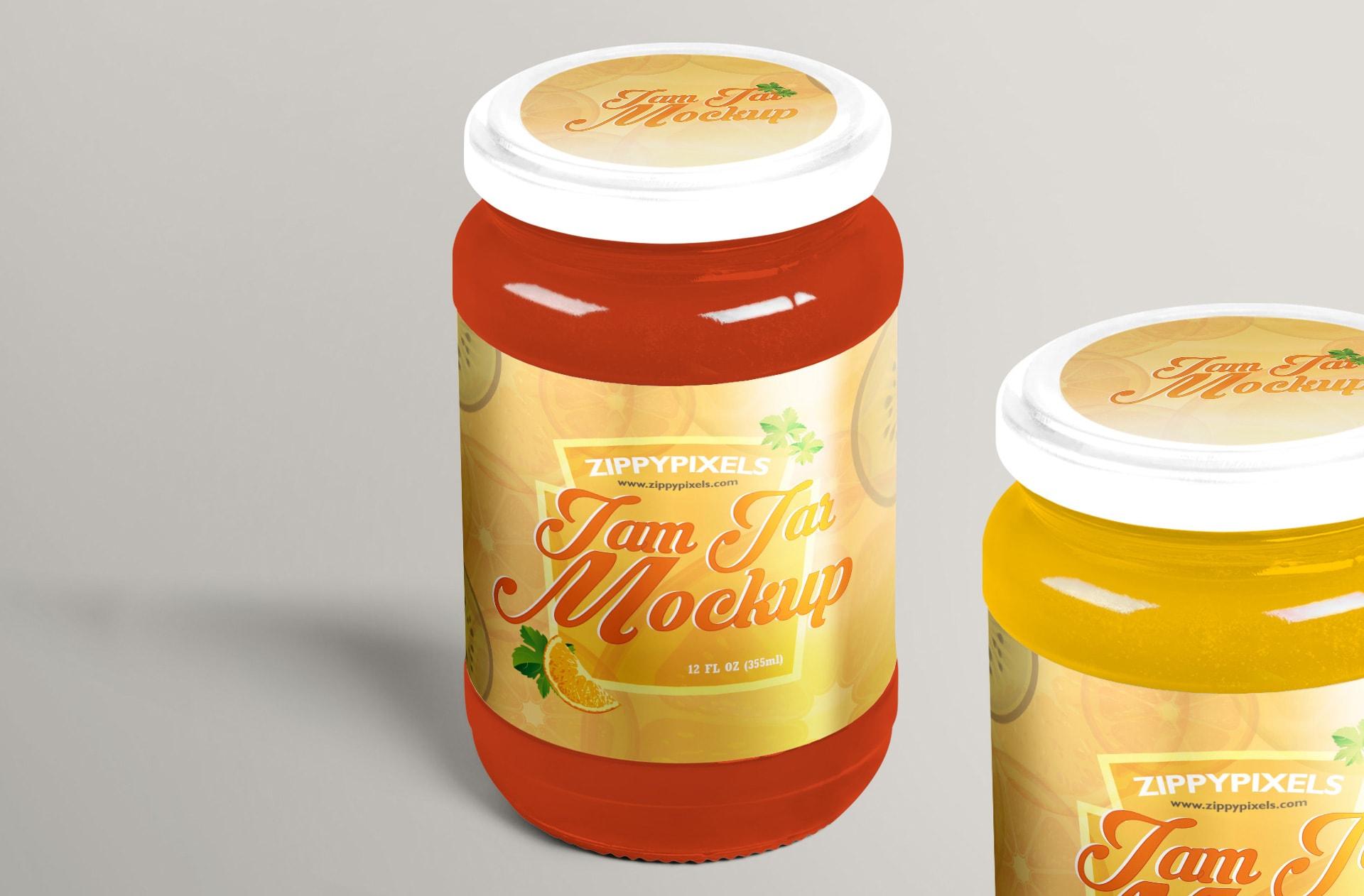 ready to use free jelly jar mockup