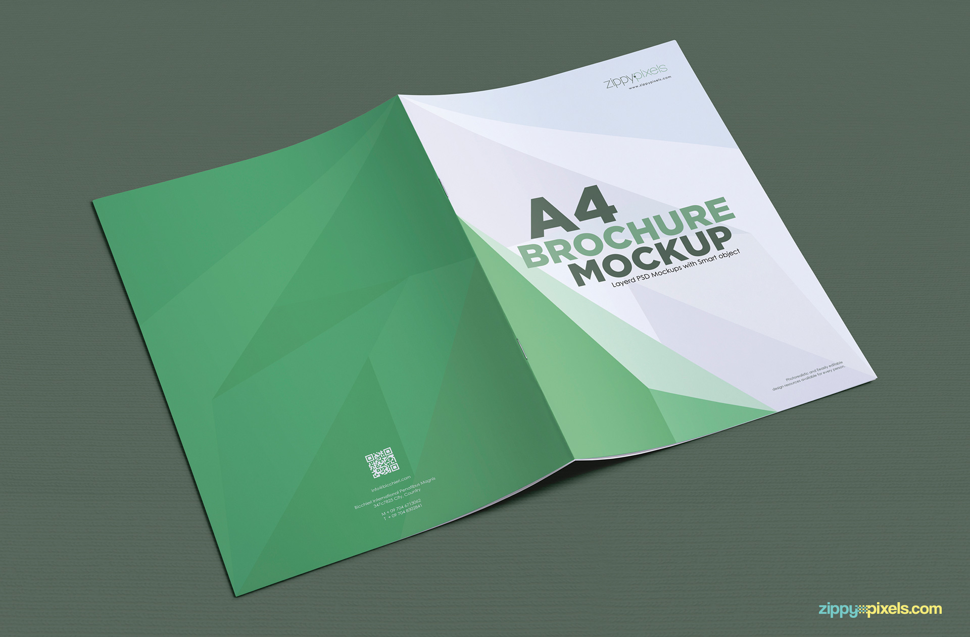brochure psd templates - a4 brochure mockup free psd download zippypixels