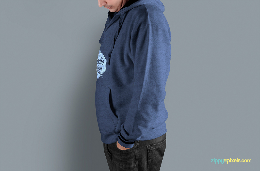 preview how your design will look like on a printed hoodie