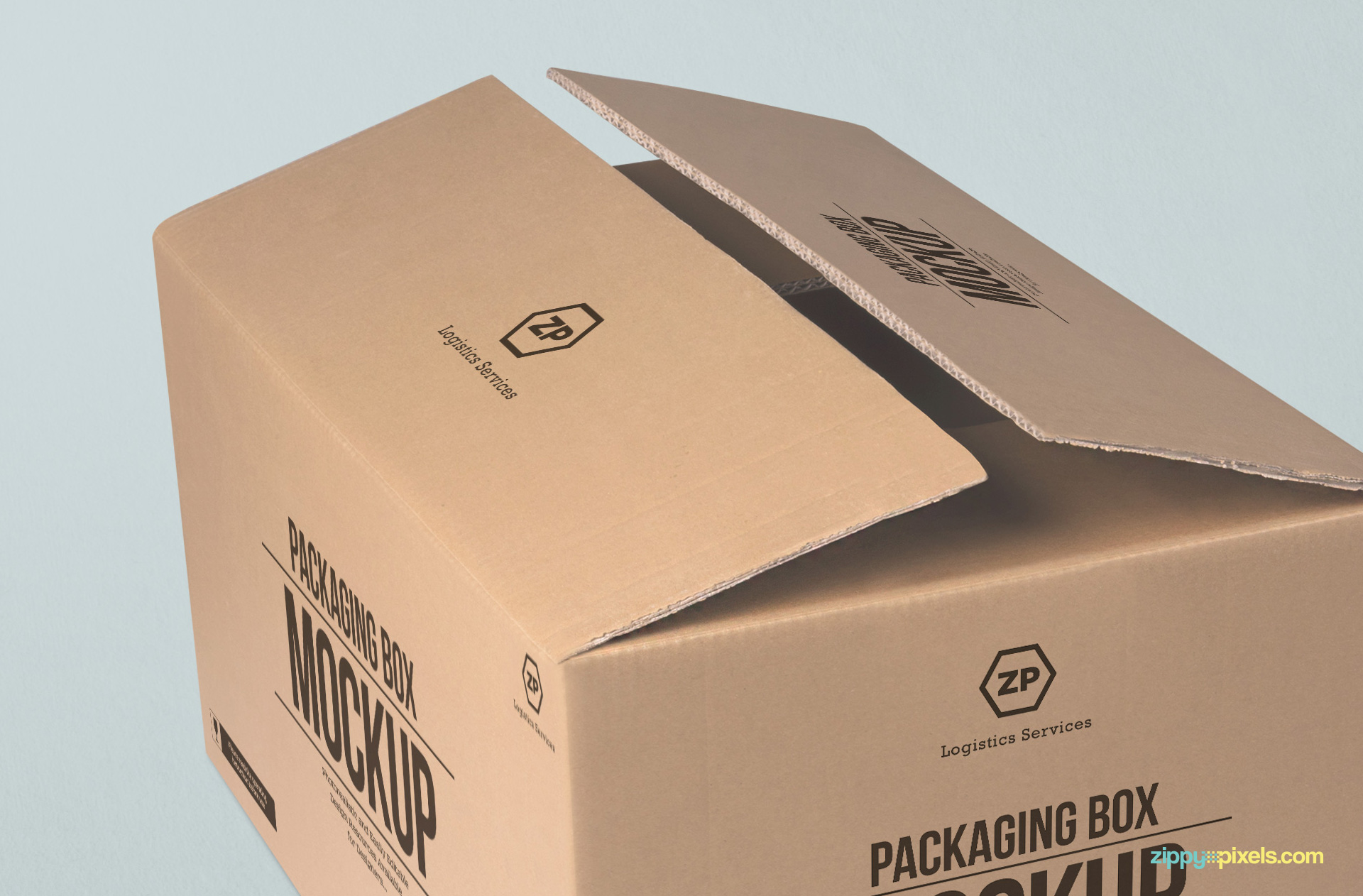 free packaging box mockup zippypixels
