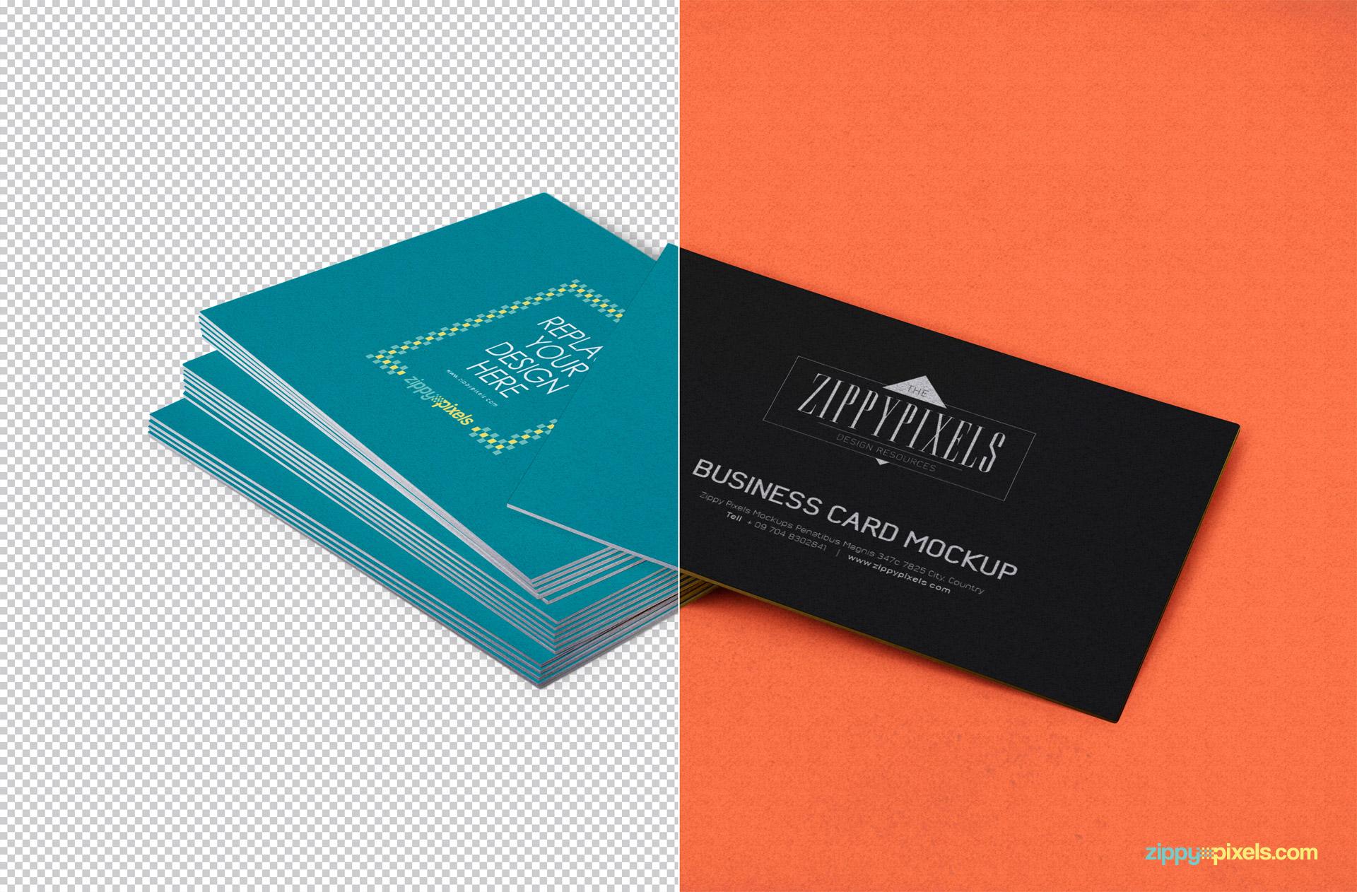 04 Free Editable Business Card Mockup PSD 824x542