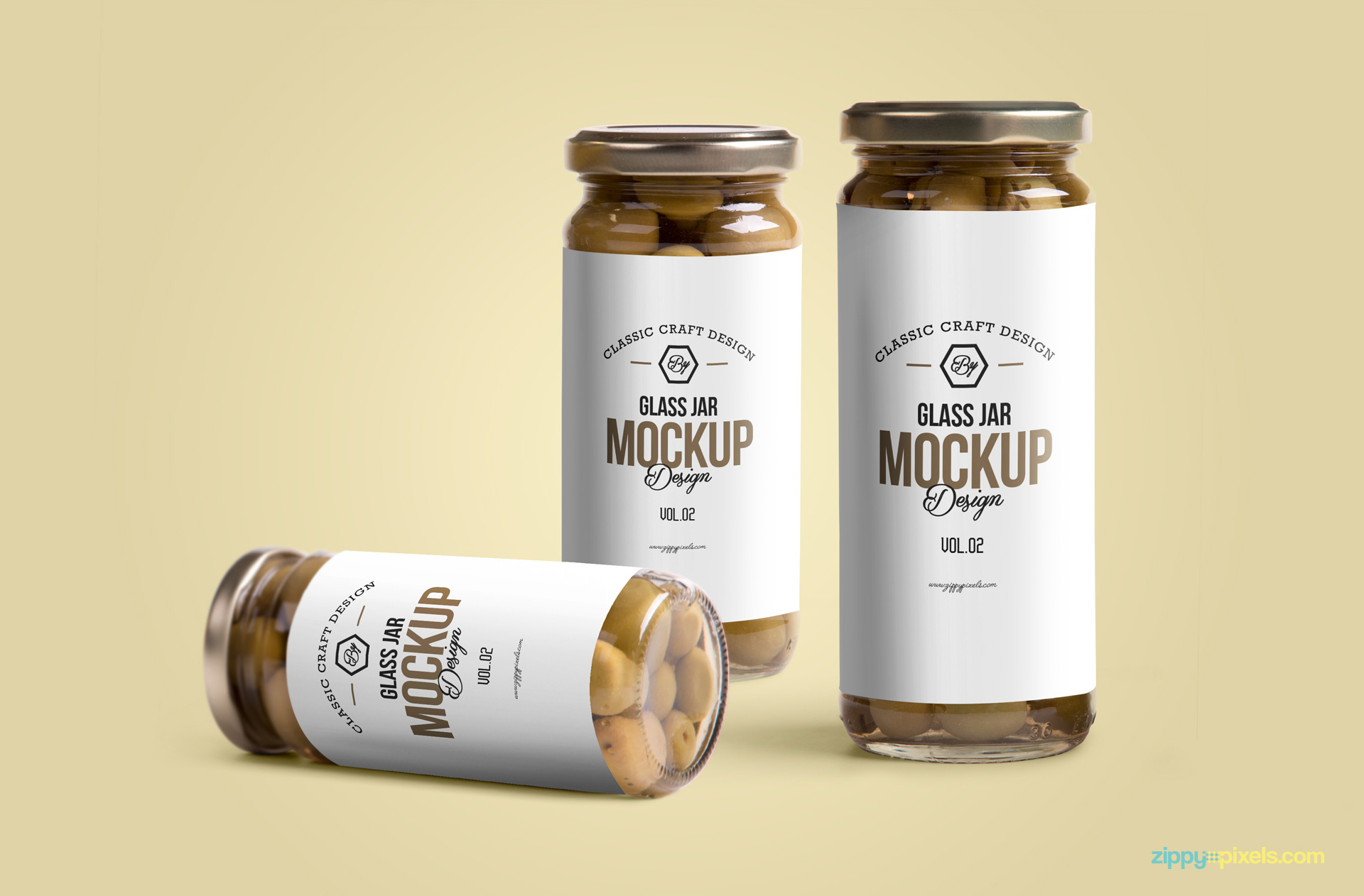 free photorealistic psd mockup of a glass jar