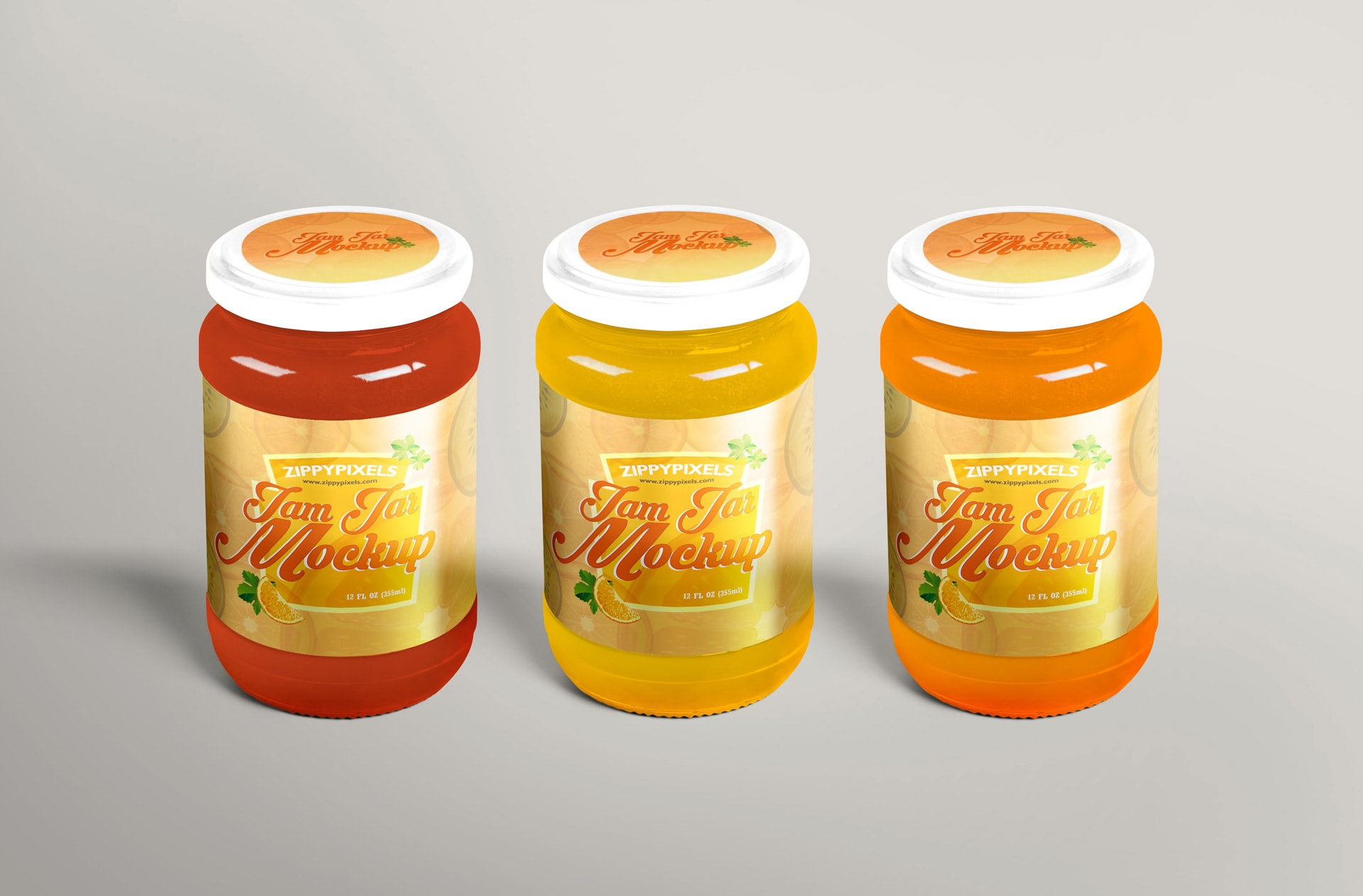 jam and jelly jar mockup for free