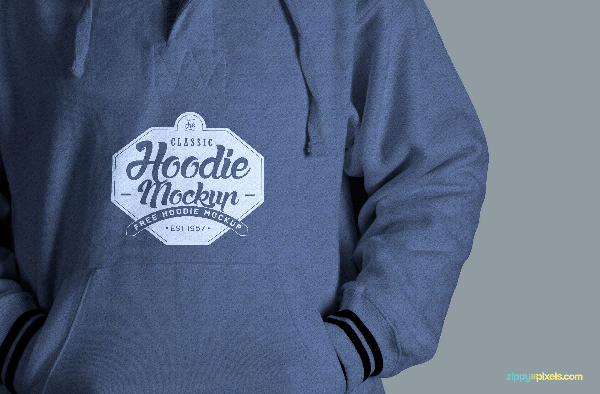 hoodie psd mockup with replaceable logo design