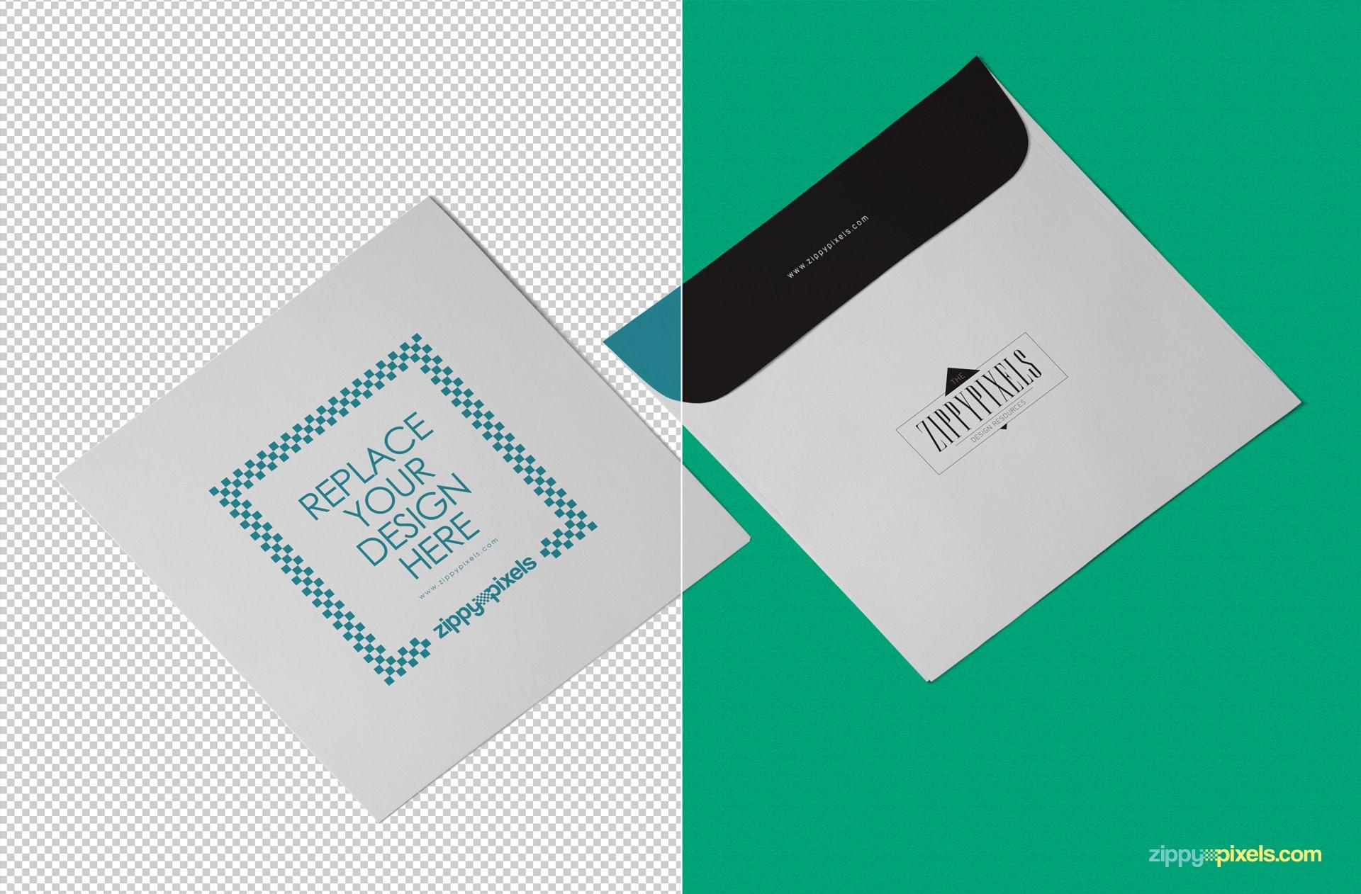 editable envelope PSD mockup for showcasing your designs