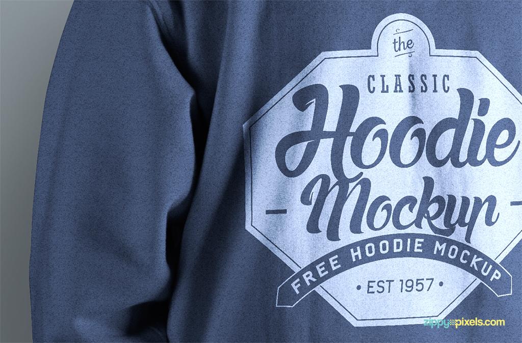 Photorealistic hoodie mockup for designers