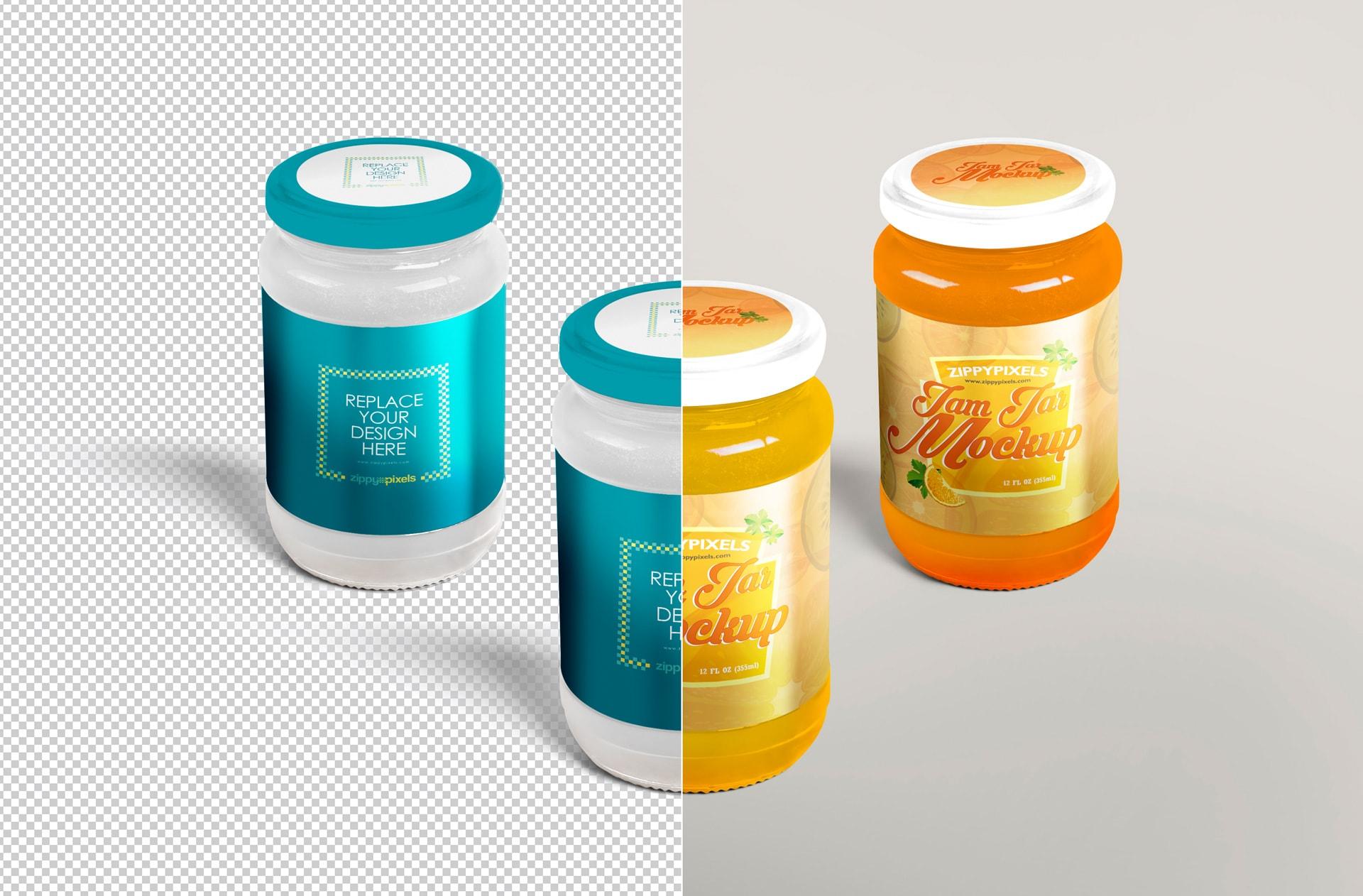 high quality jam jar PSD for your product design presentations