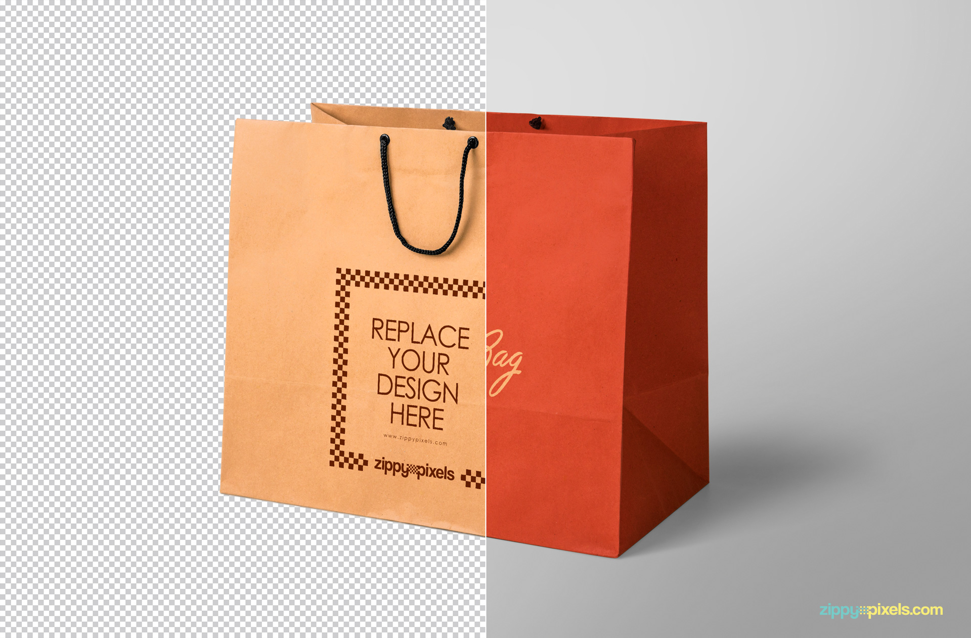 ready to use shooping bag design mockup