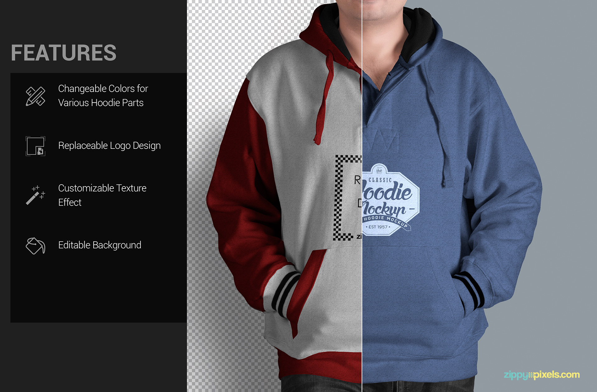 all purpose hoodie mock-up PSD