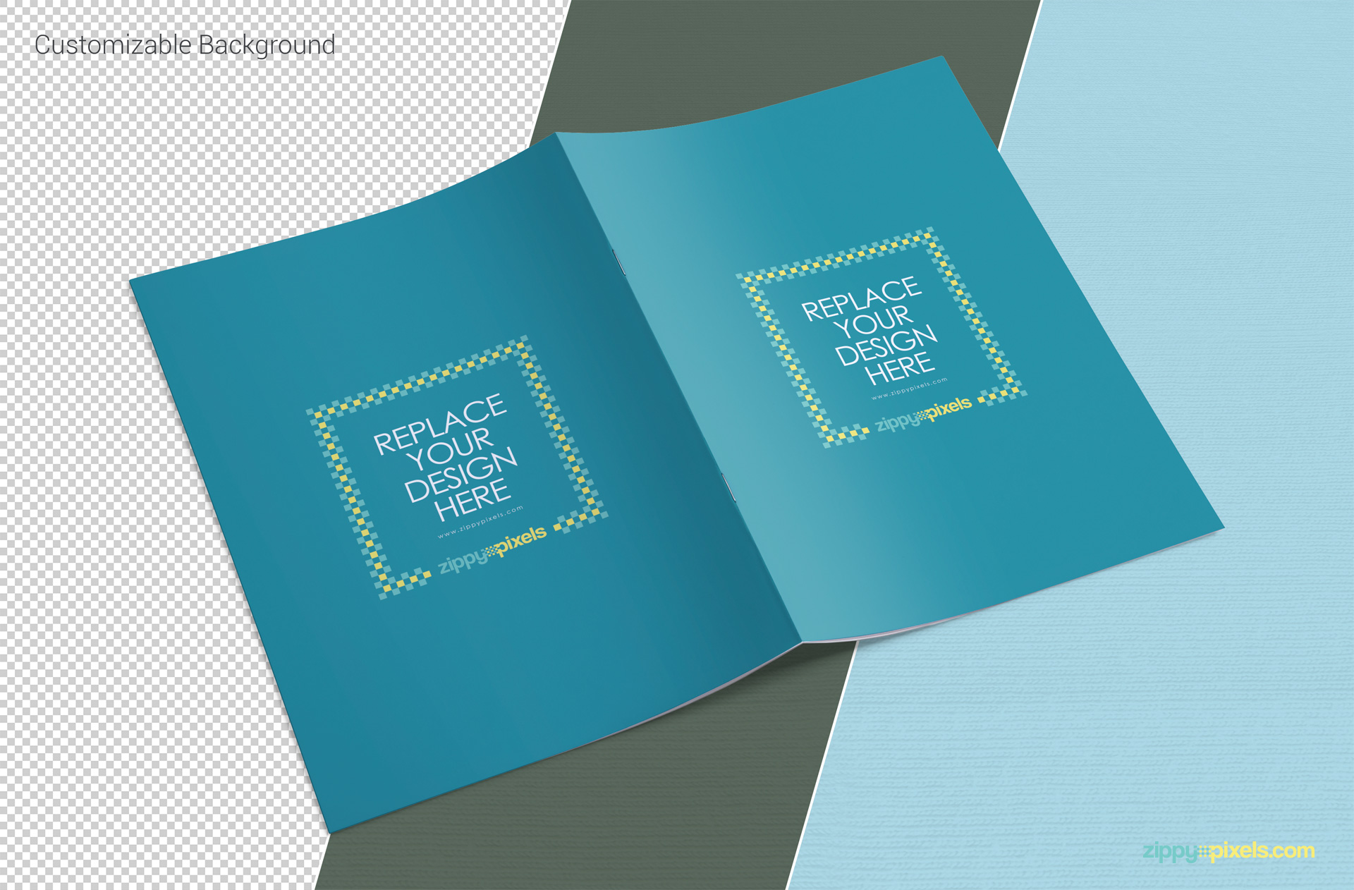 Free a4 brochure mockup zippypixels for Brochure design psd file