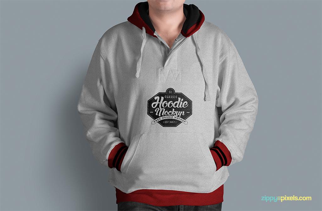 ready to use hoodie mockup psd