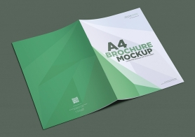Gorgeous Free A4 Brochure Mockup In Portrait Layout – (4 PSD Files)