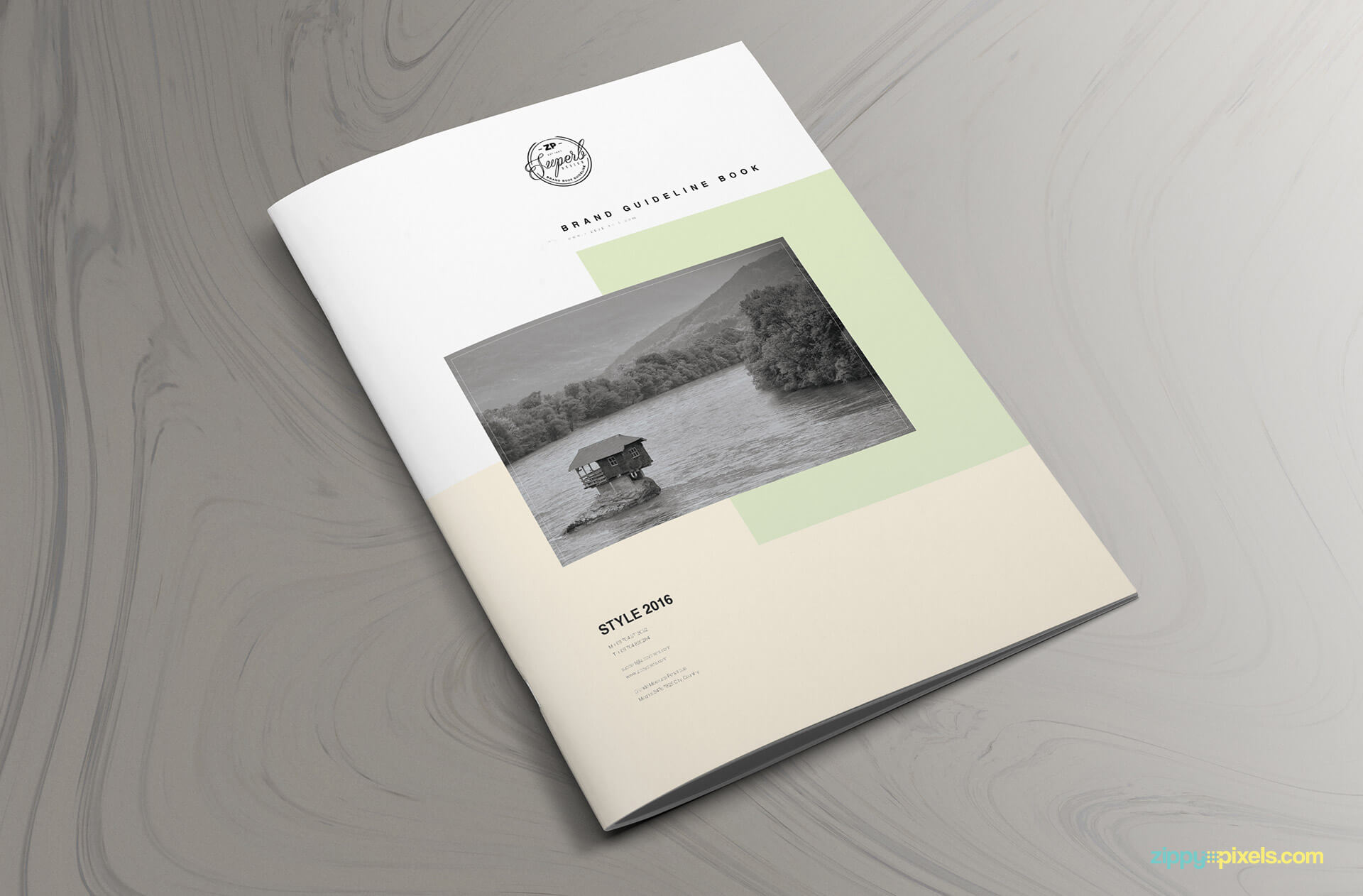 minimal and professional brand manual template