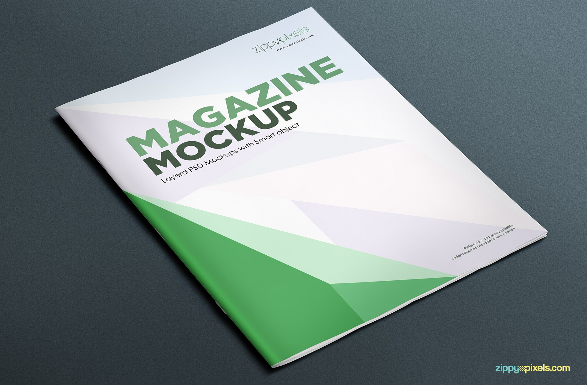 customizable magazine mock-up psd