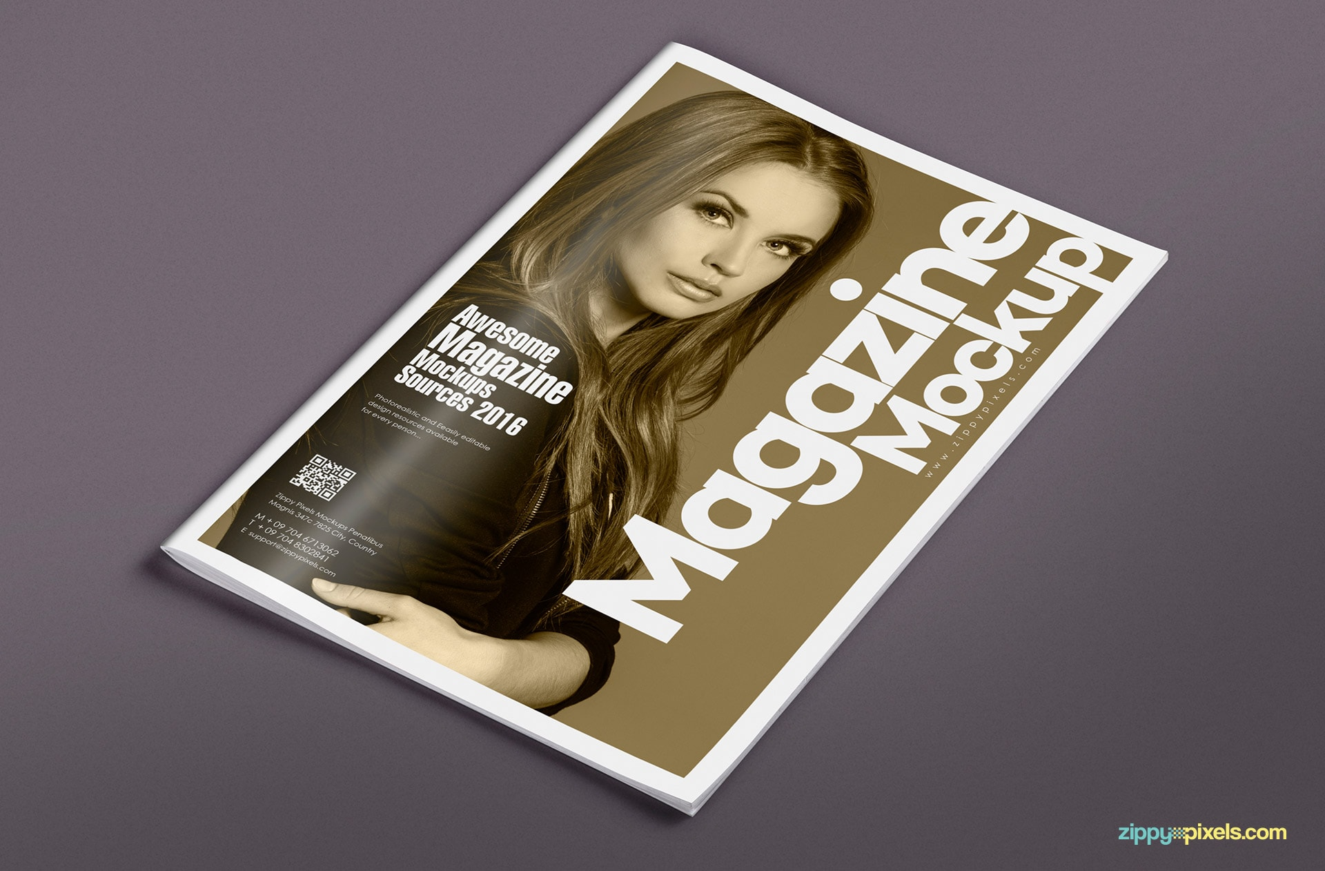 customizable magazine spread mockups