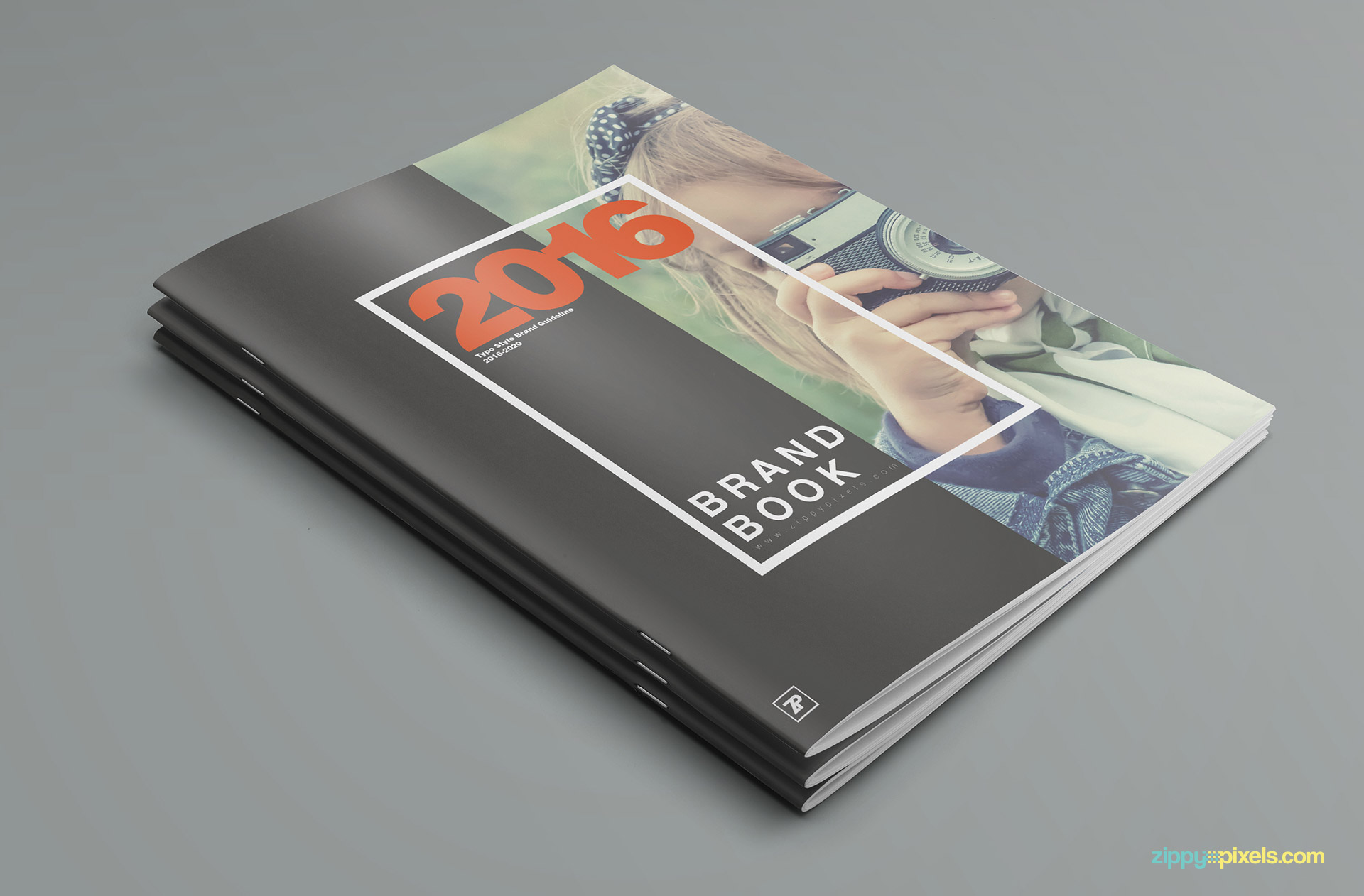 brand book template with organized layers