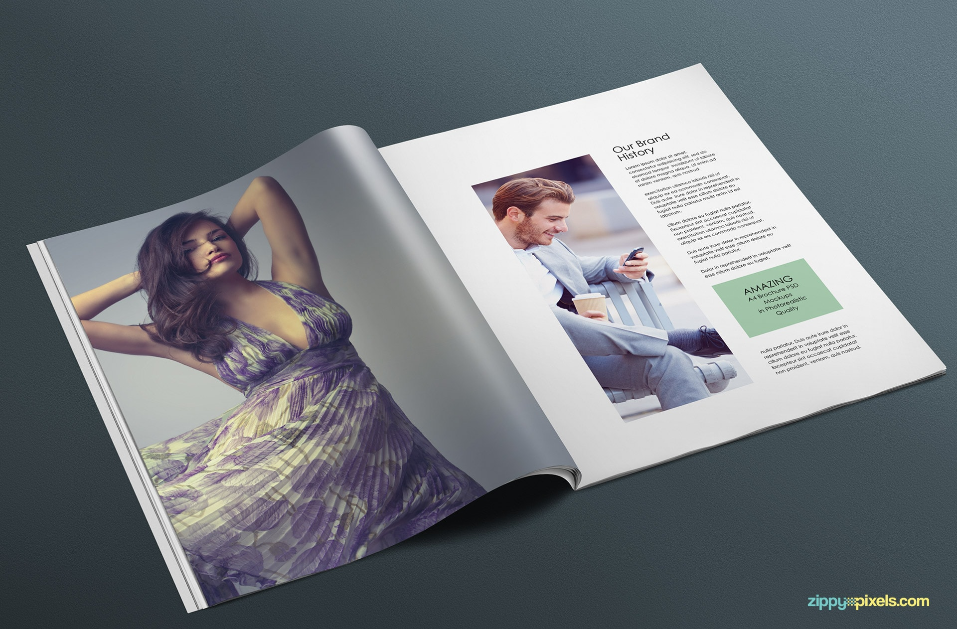 create visual presentations of your magazine and editorial designs