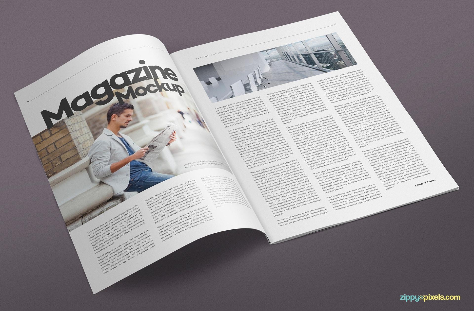 14 magazine spread mockups zippypixels