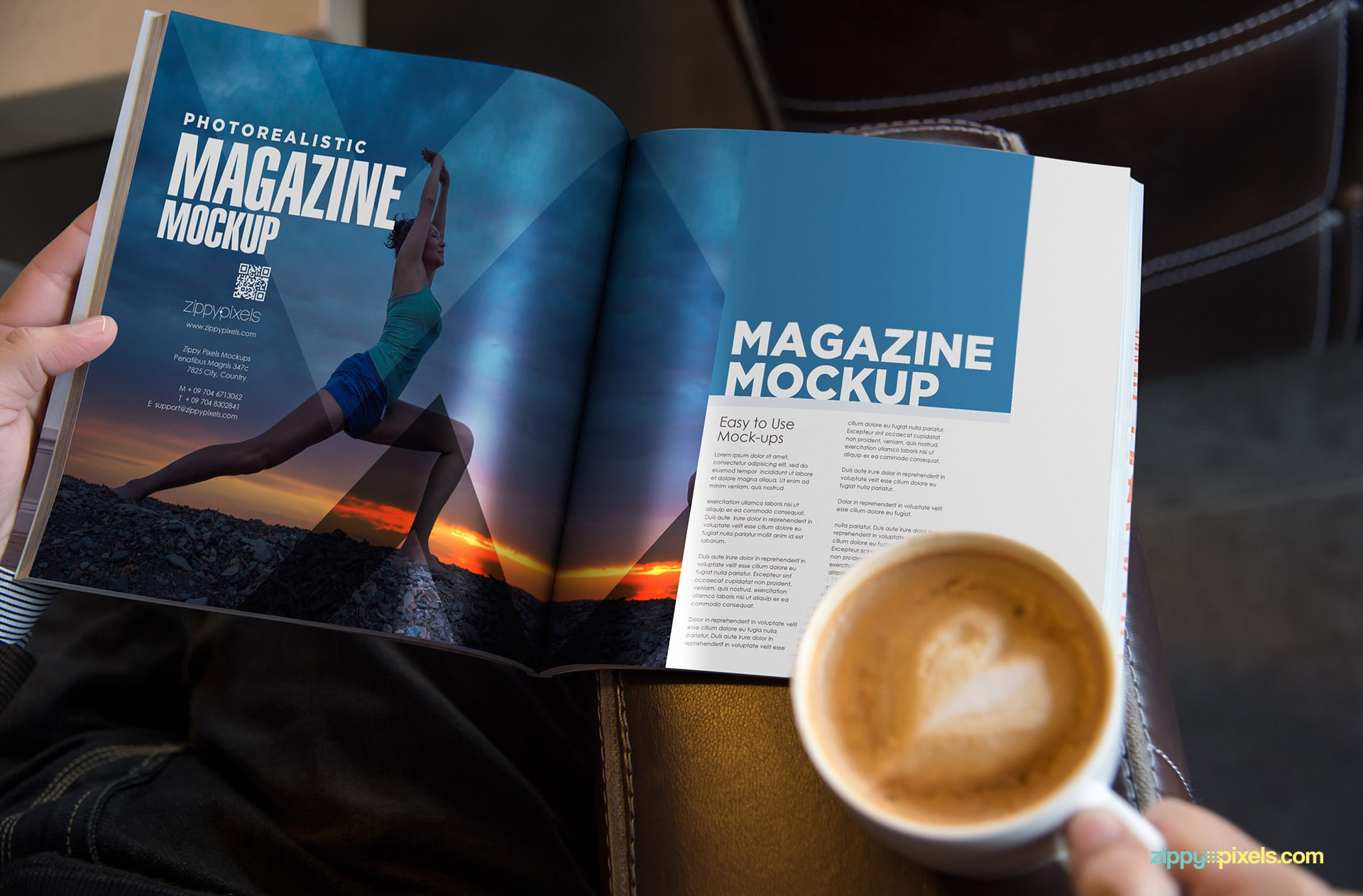 sqaure mag mockups with different angles and arrangements