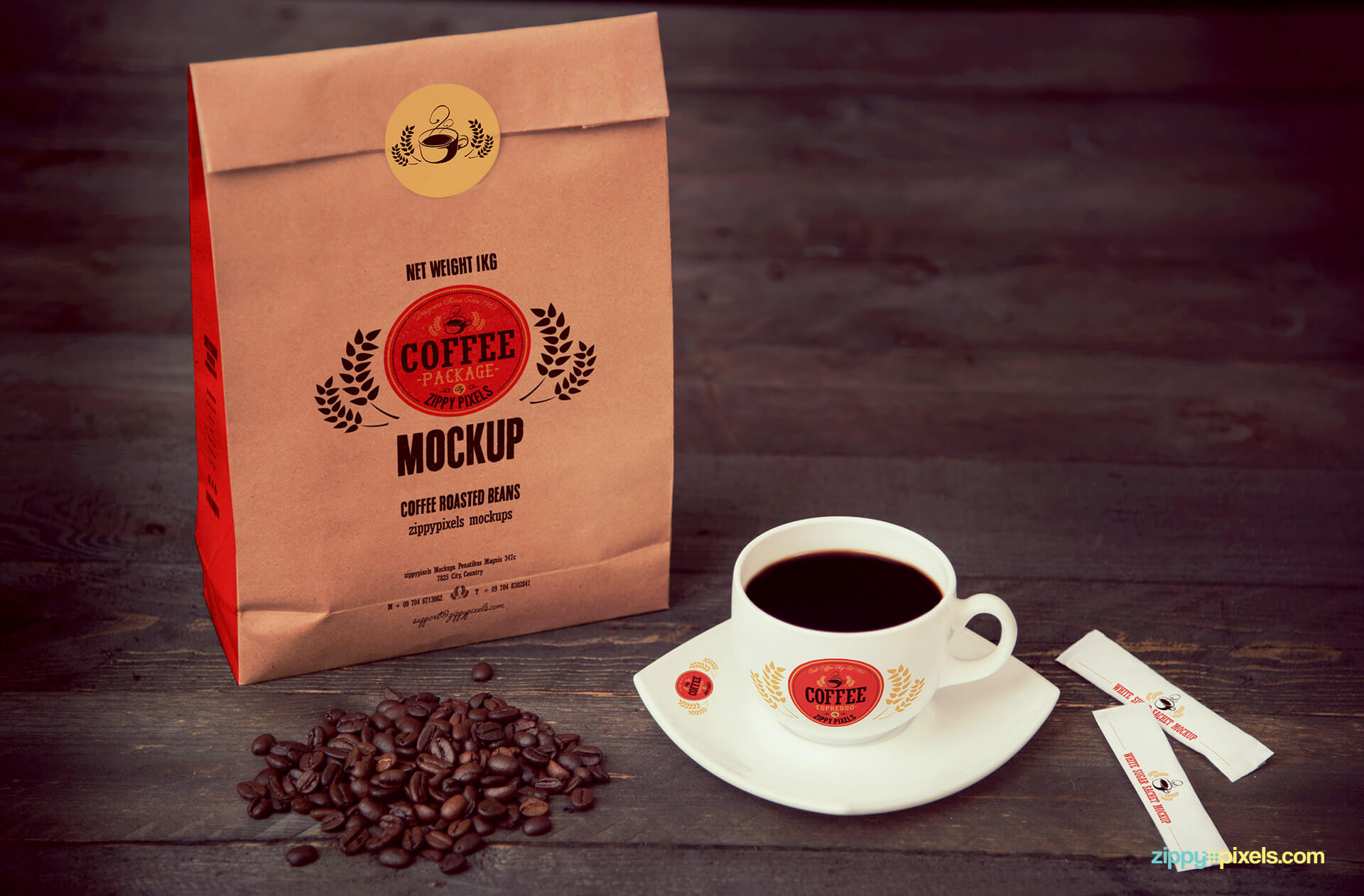 coffee branding mock up pack