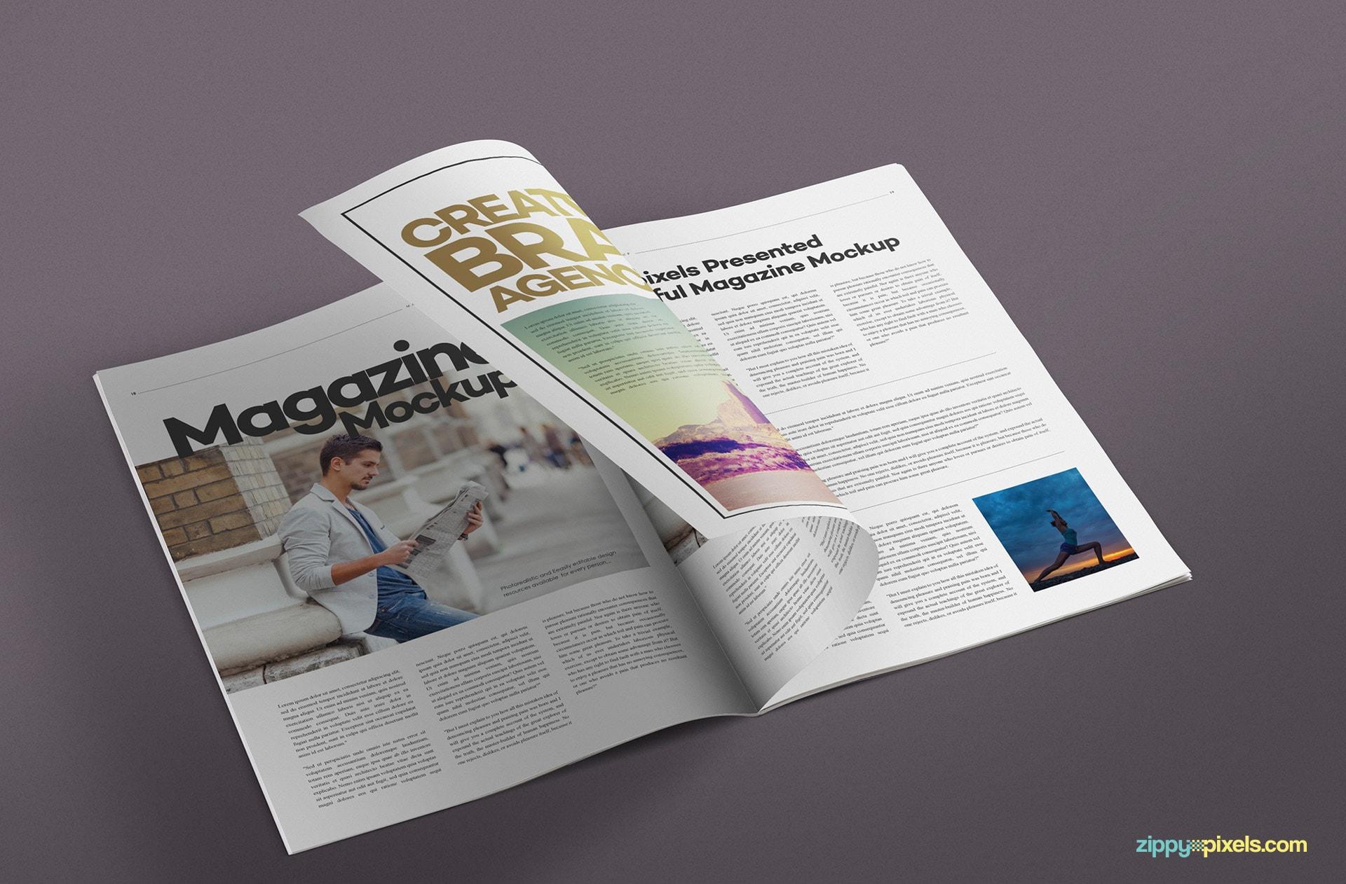 high quality mag mock-ups for inspiring design presentations