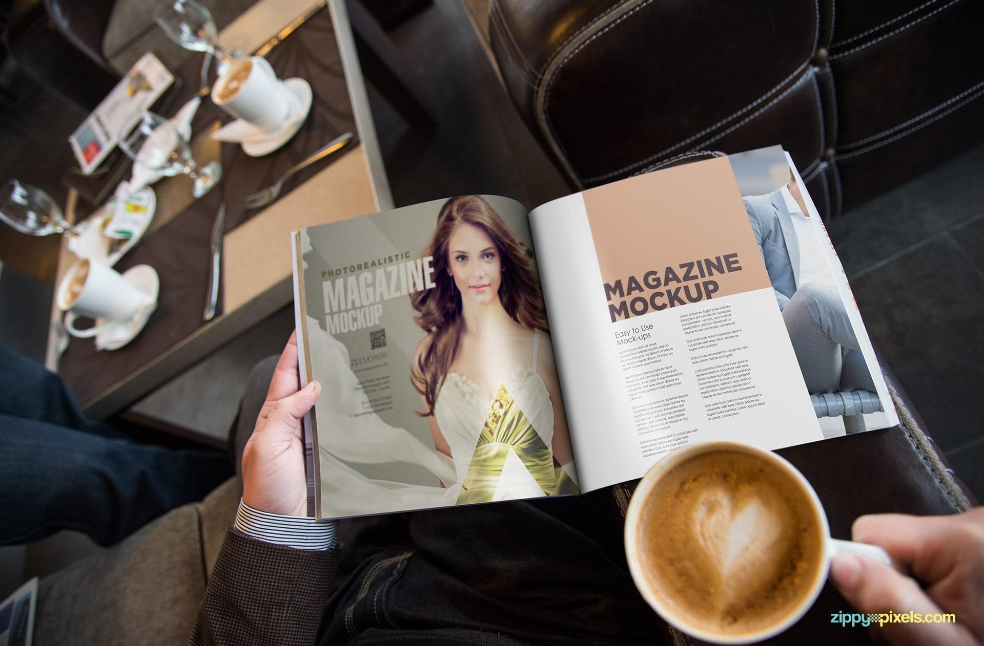 square size magazine mockup psd