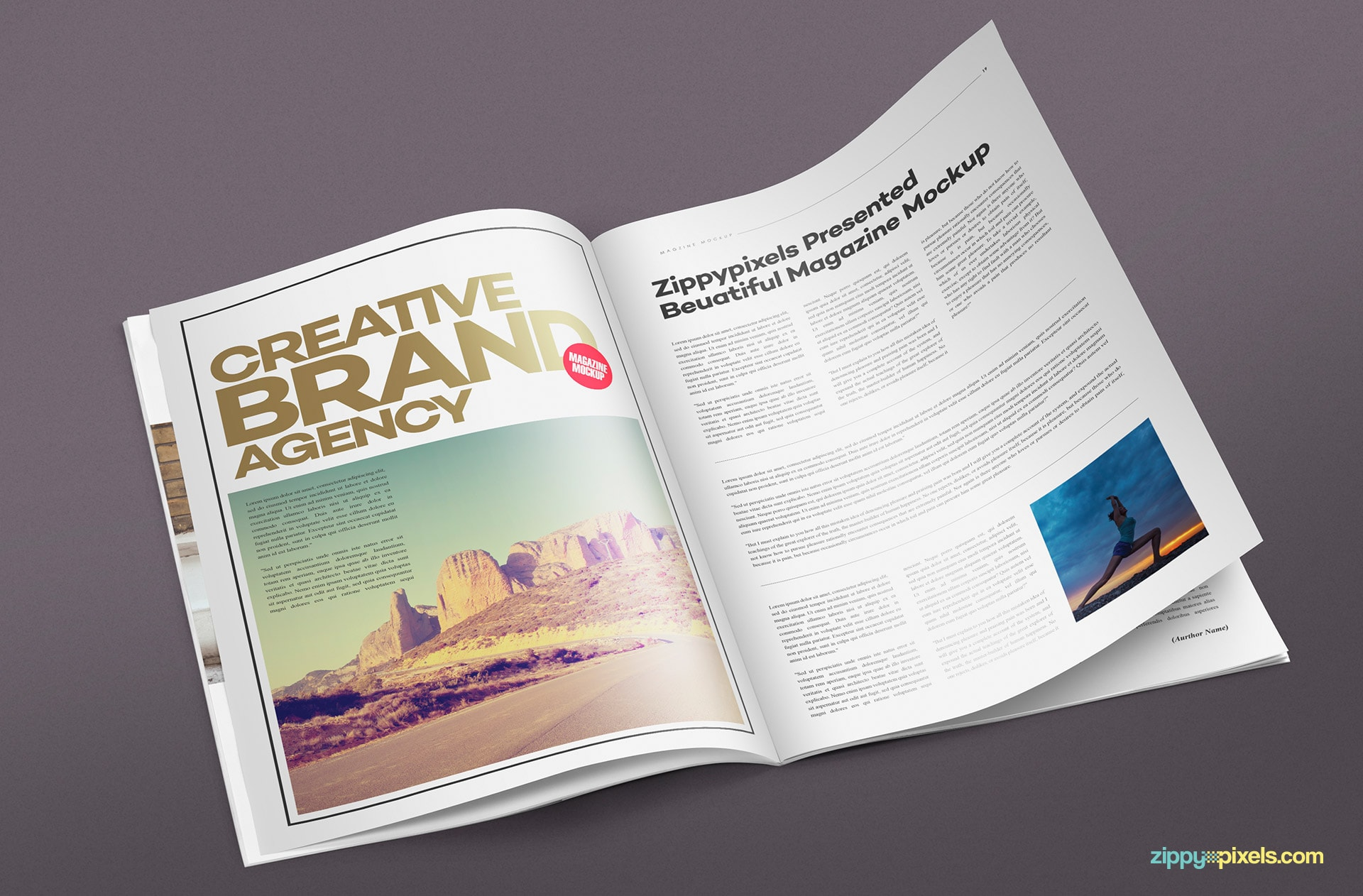 magazine cover and spread mockup psds