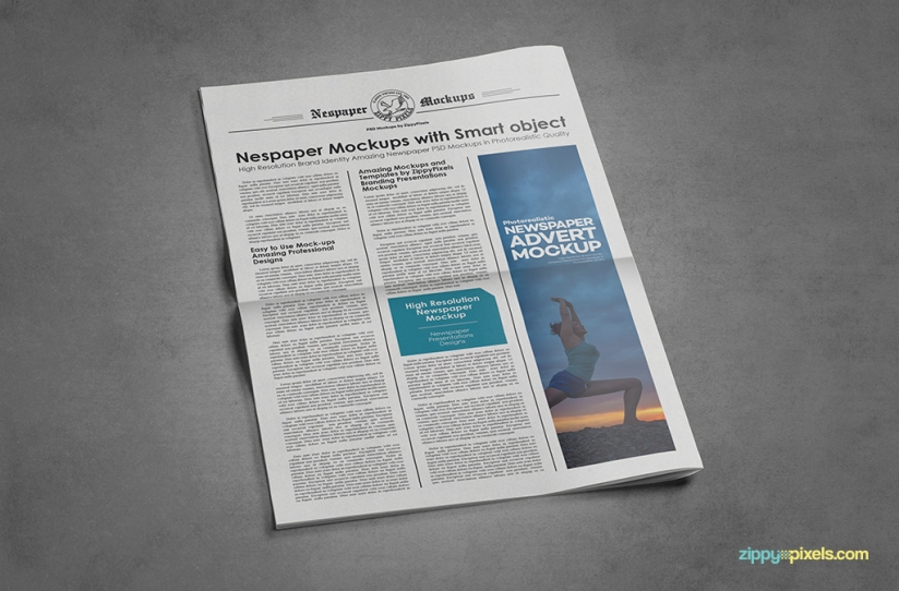 bifold newspaper psd mocks