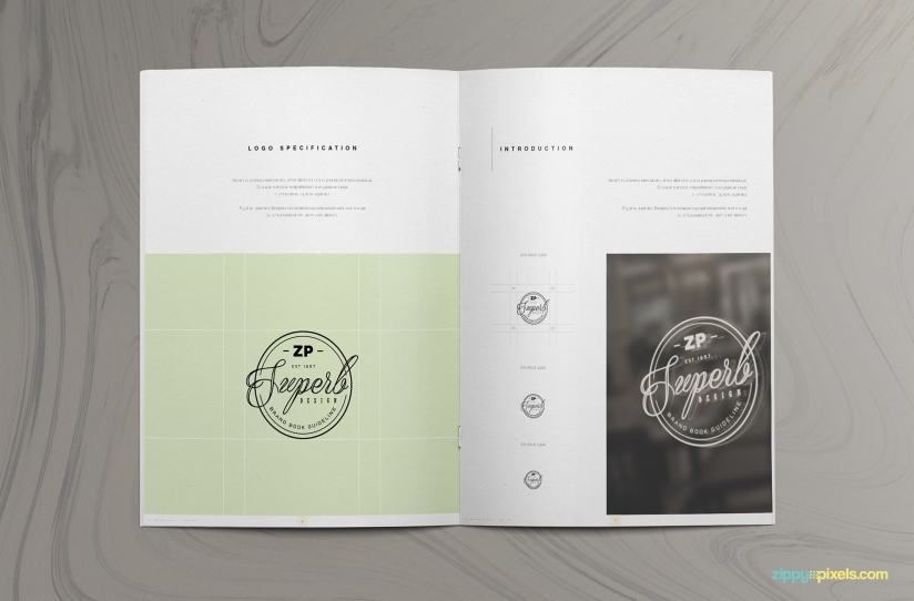 visual style guide template - the prestige brand manual template zippypixels