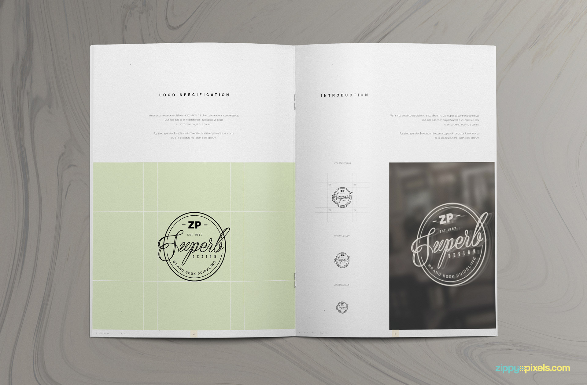 The Prestige – Brand Manual Template | ZippyPixels