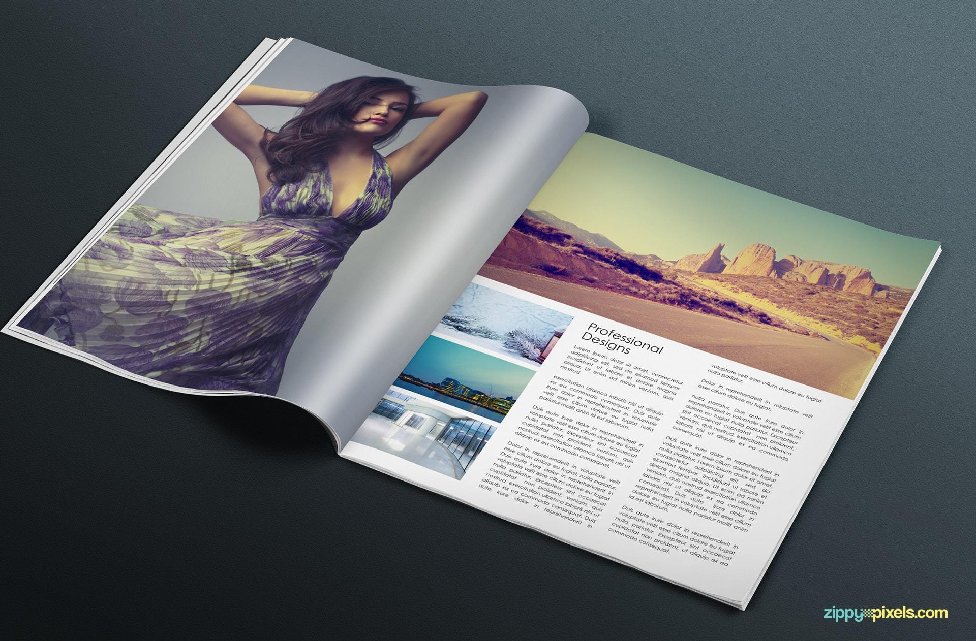 beautiful bifold magazine mockups