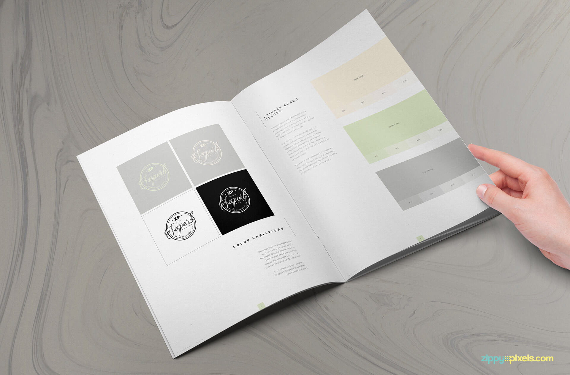 easy to use illustrator brand template