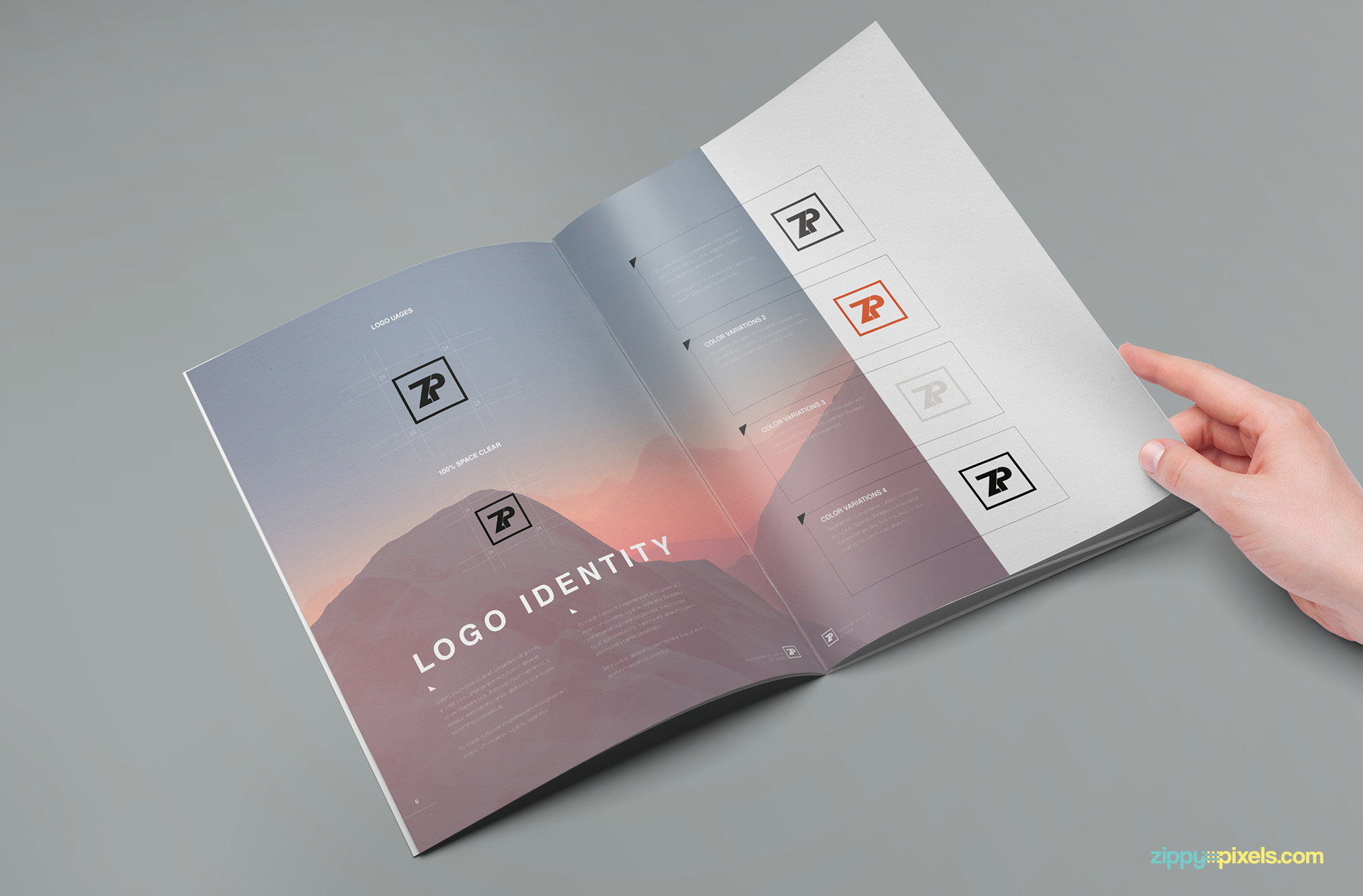 a brandbook made to promote your brand and impress your clients