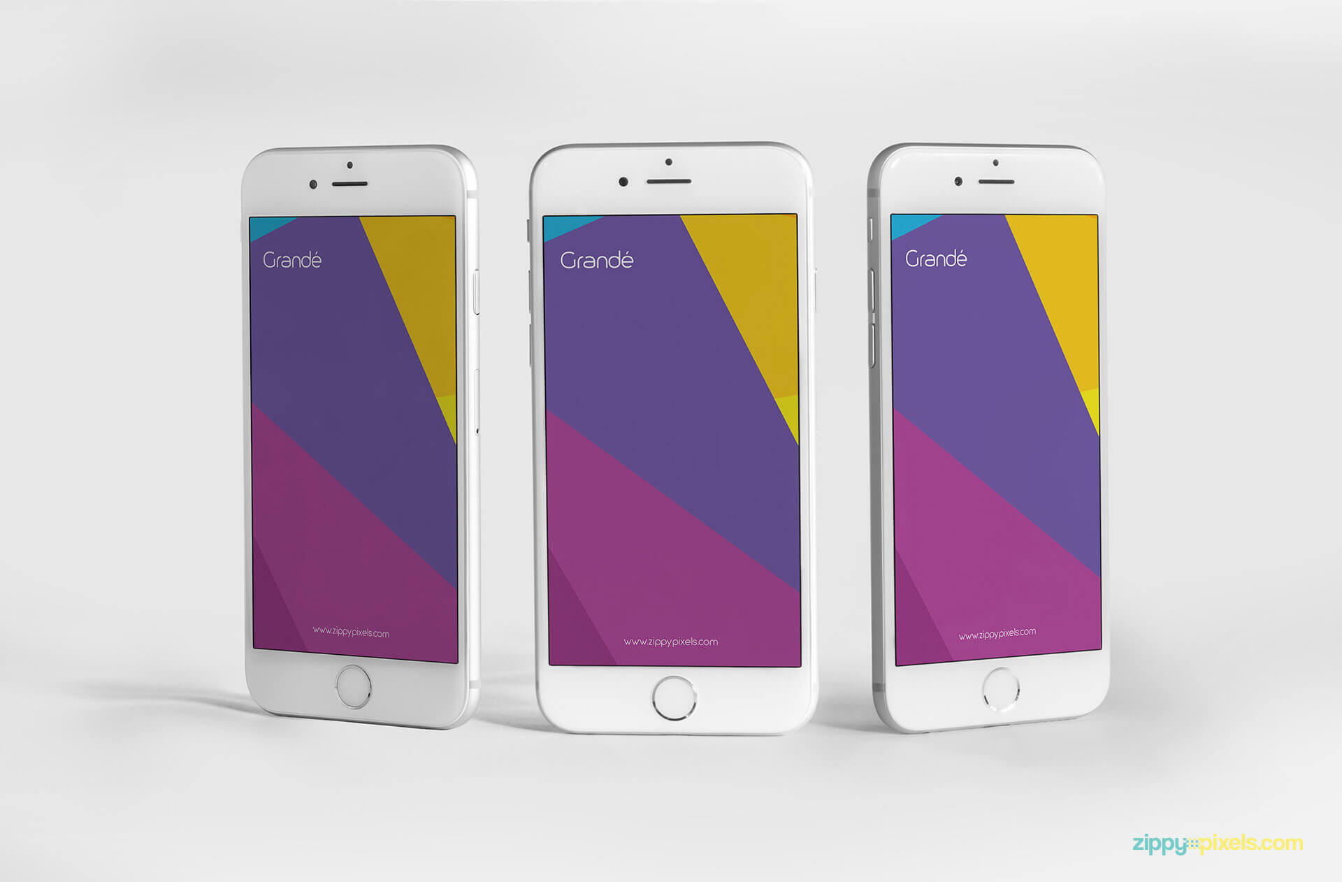 iphone 6s psd screen mockups for UI design presentations