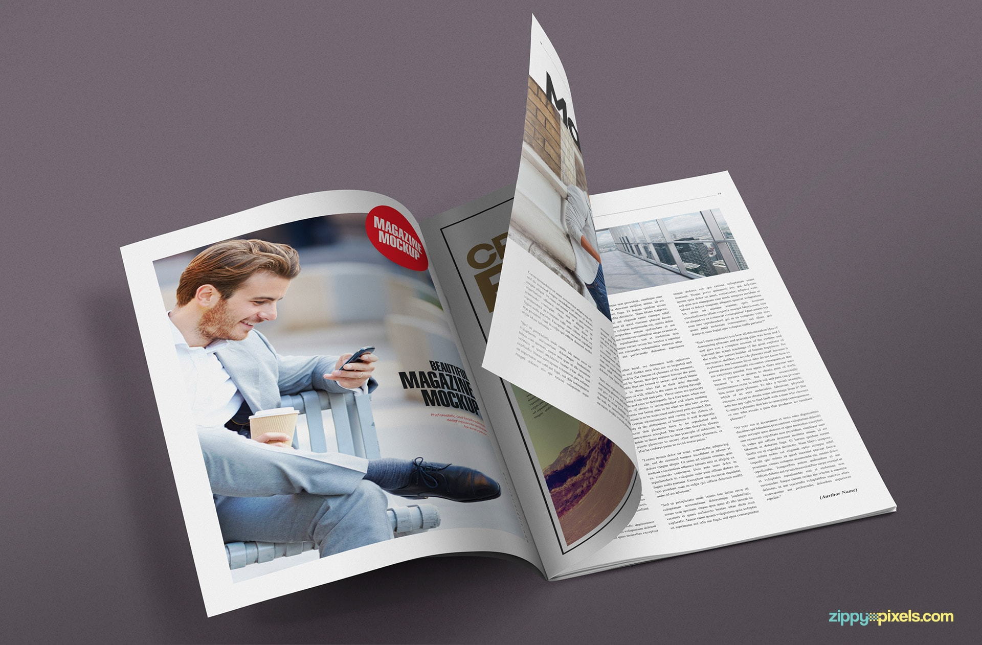 magazine psd mockups with changeable backgounds