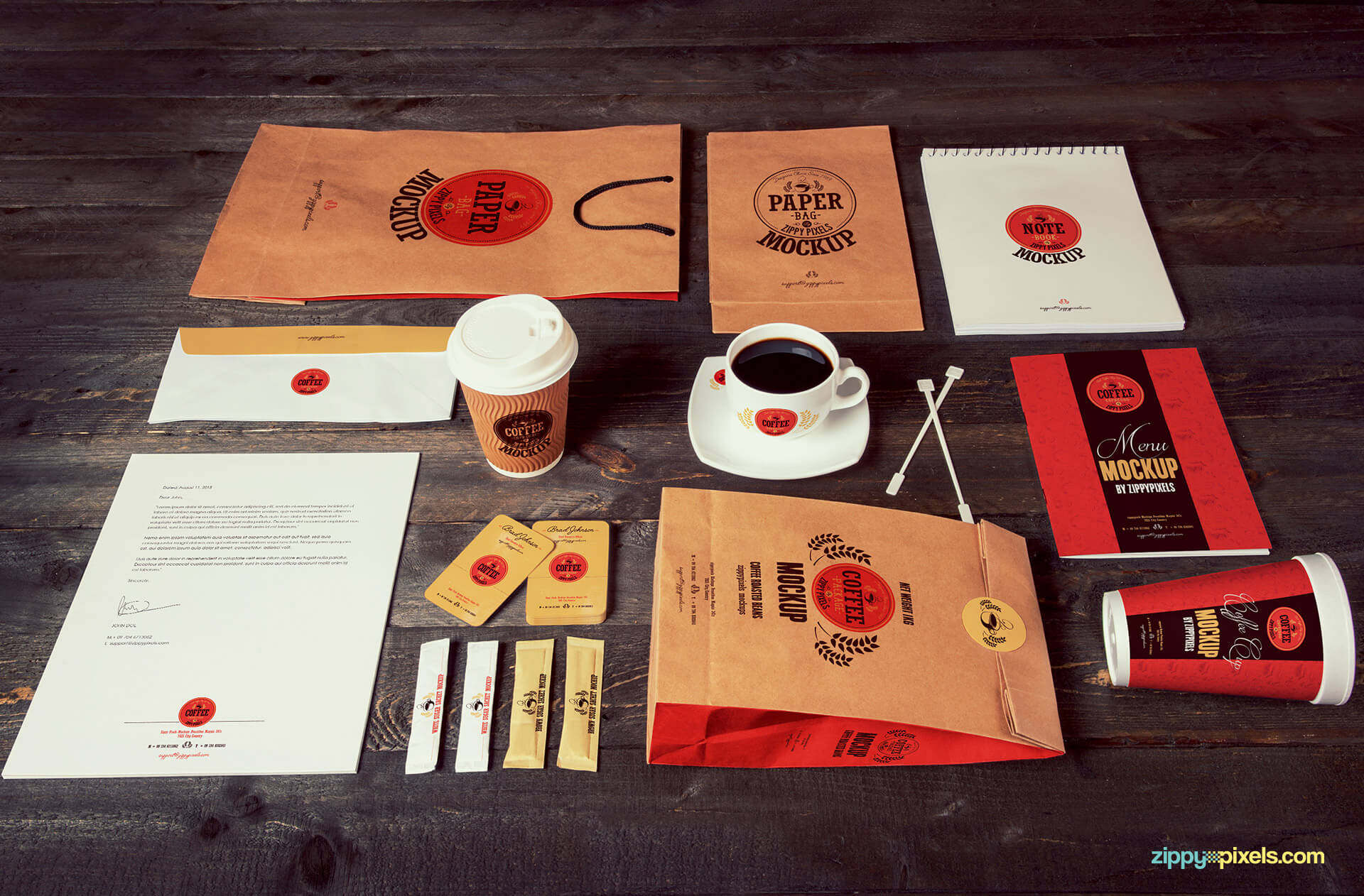 All the coffee branding and packaging mockups you need for a unique presentation