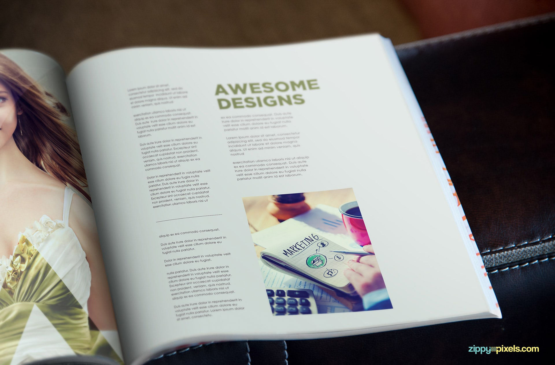 premium magaine mockups in square layout