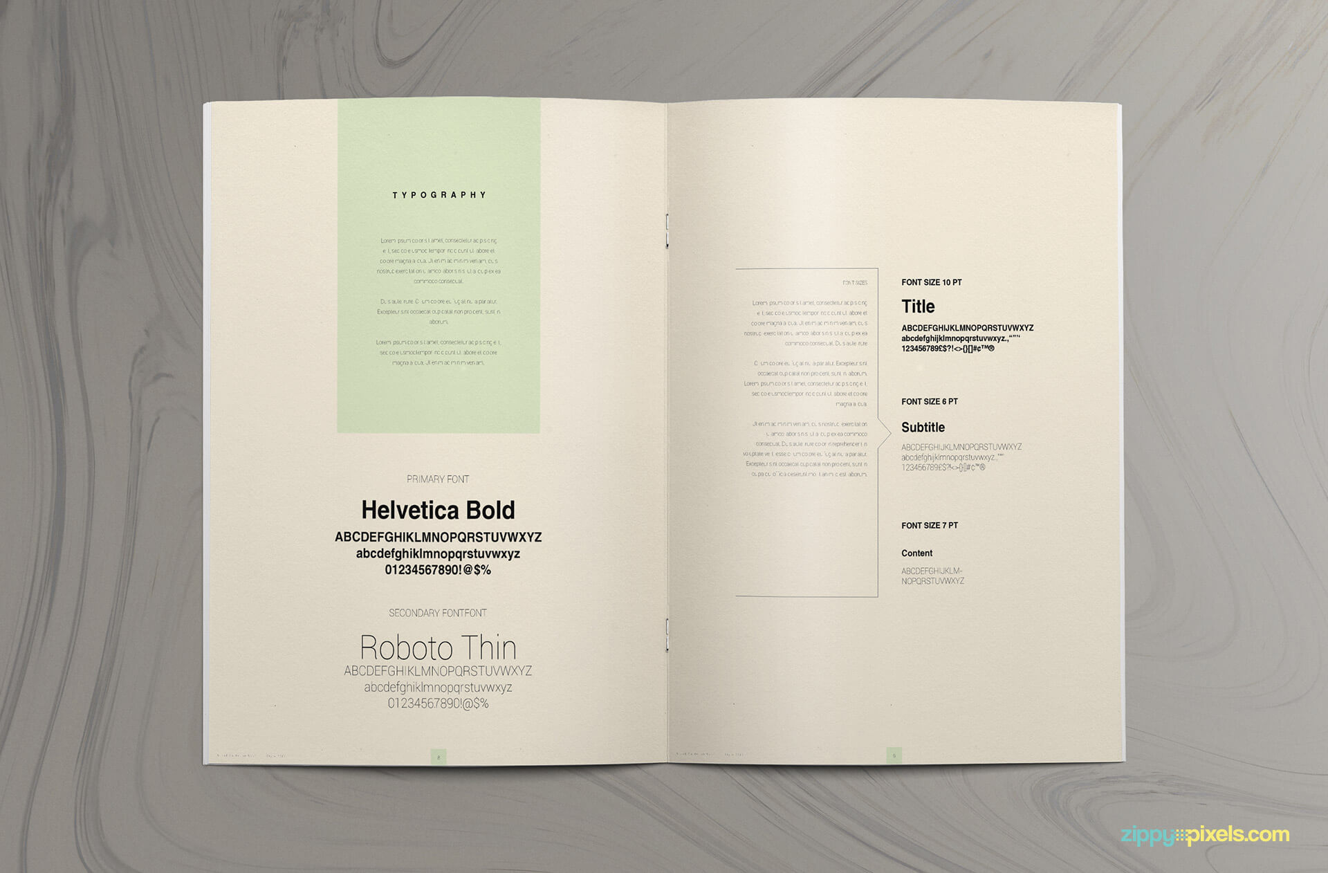 fully customizable corporate brand style guide