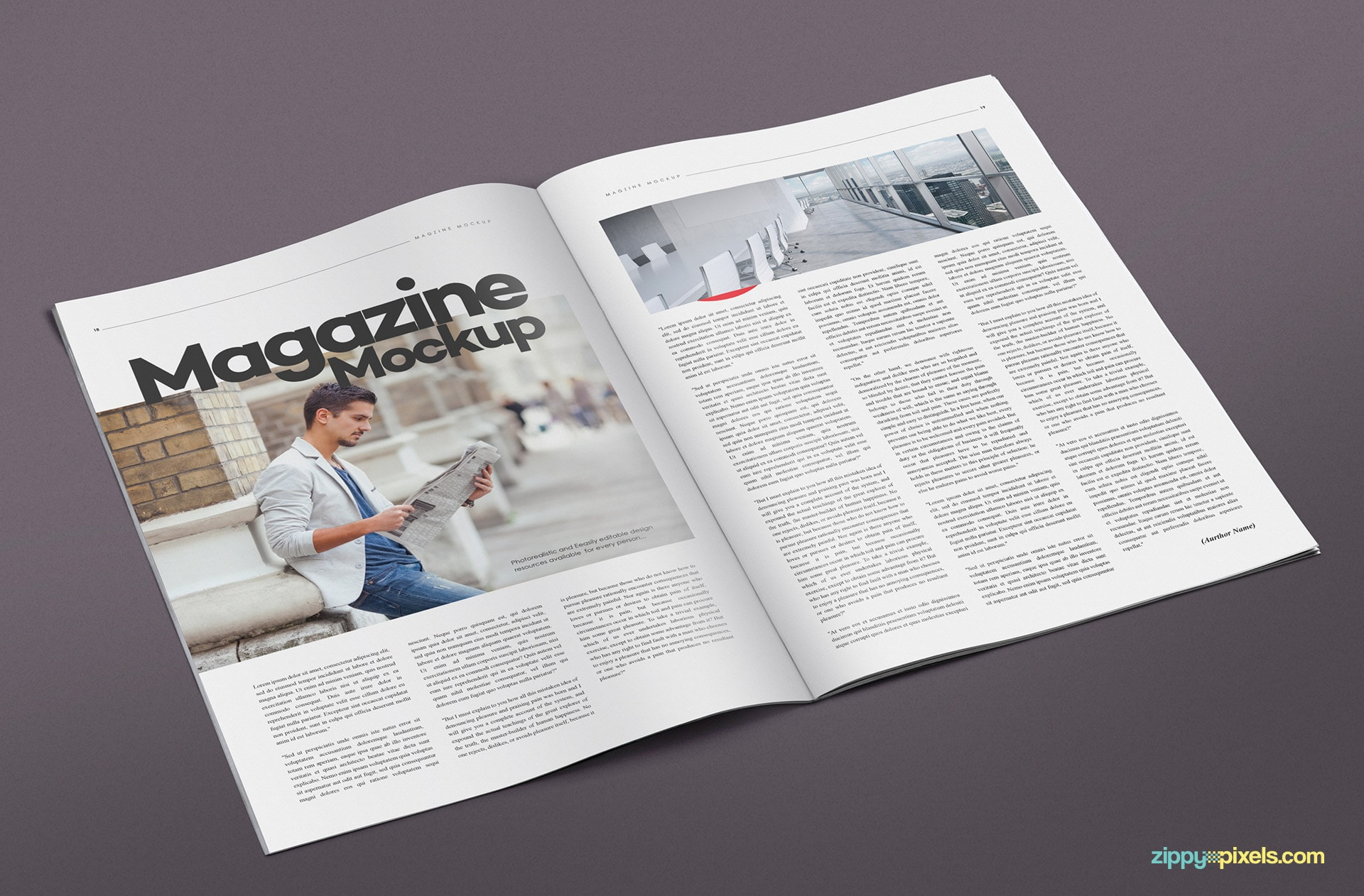 A set of 14 bifold magazine mock ups
