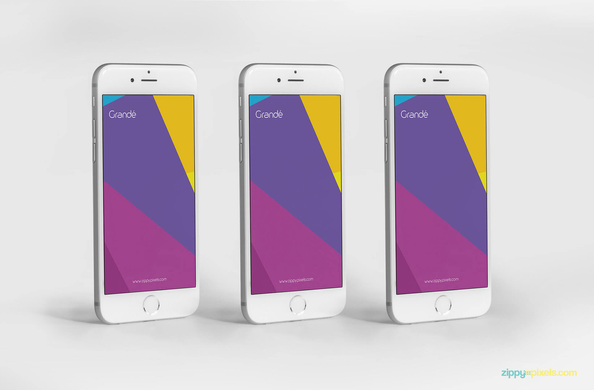 iPhone 6 mockups with multiple viewing angles