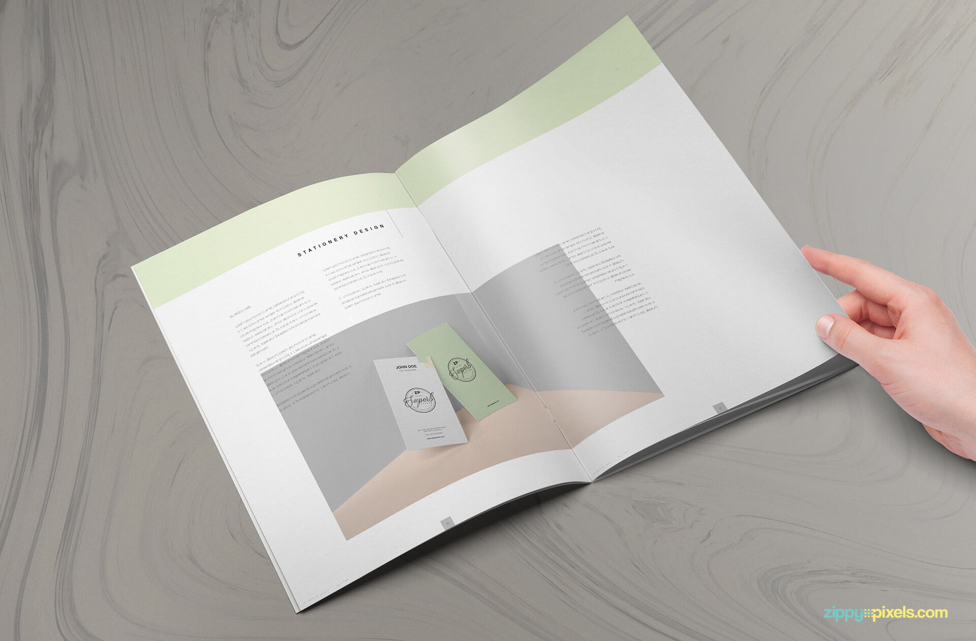 US letter size brand manual template