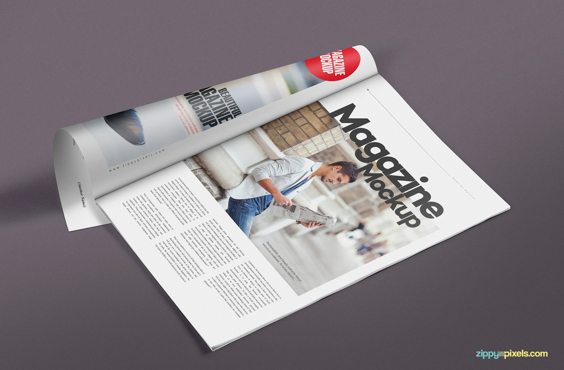 smart object based magazine mock up