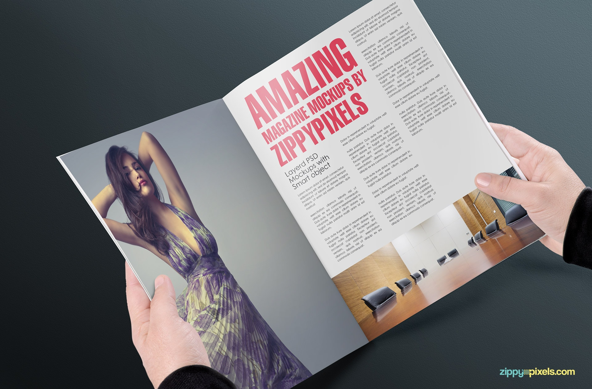 potrait style magazine mock-ups