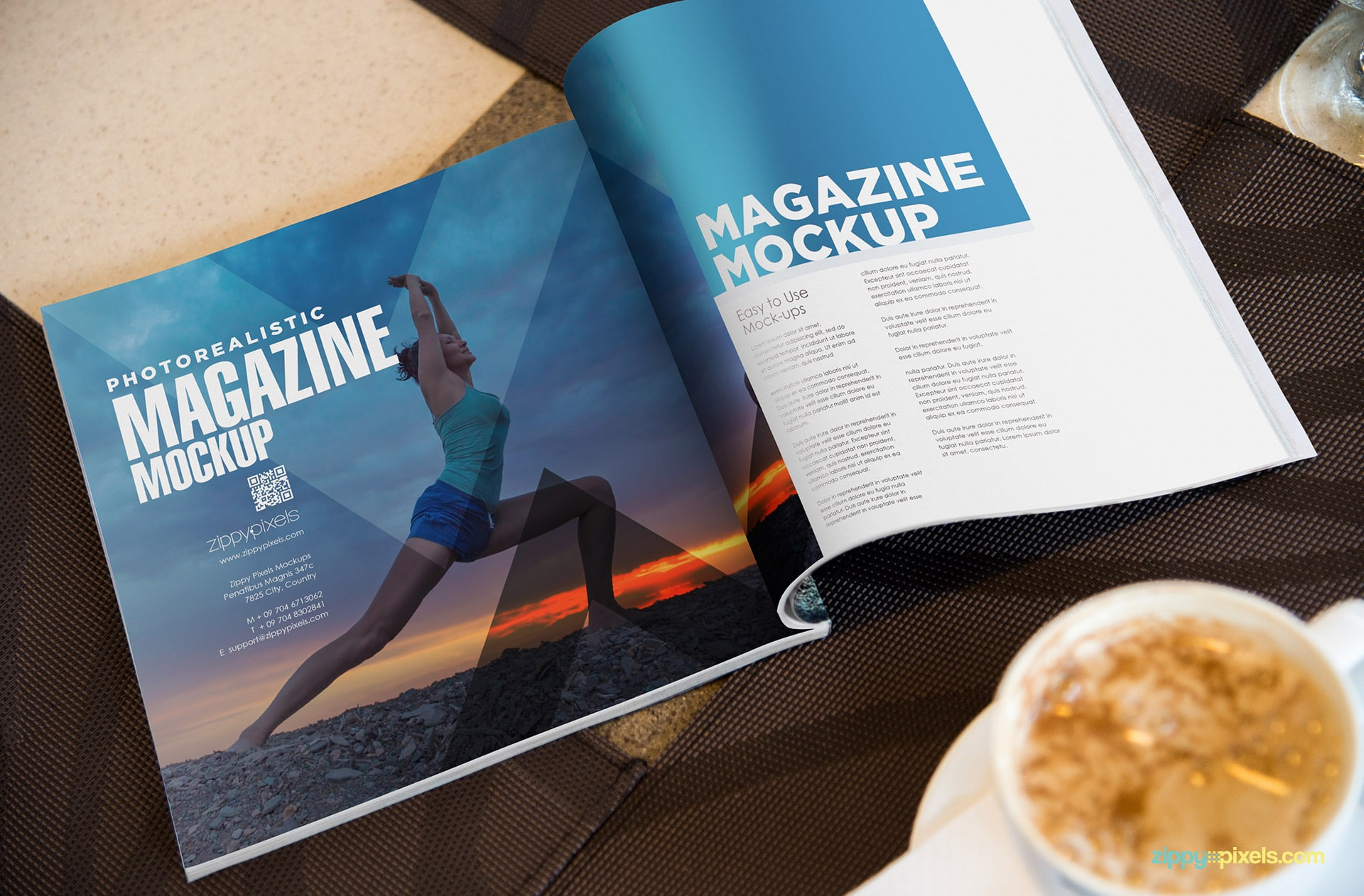 magazine psd mock up for ad designs