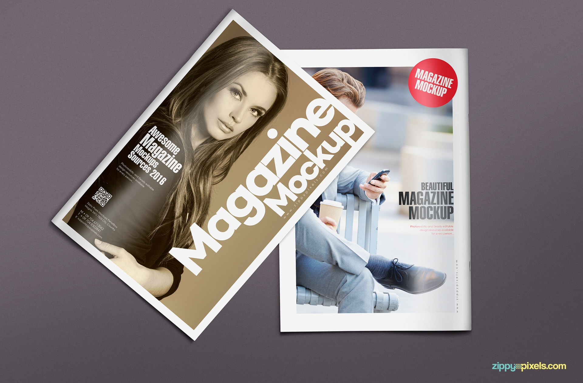 Photoshop magazine mock ups