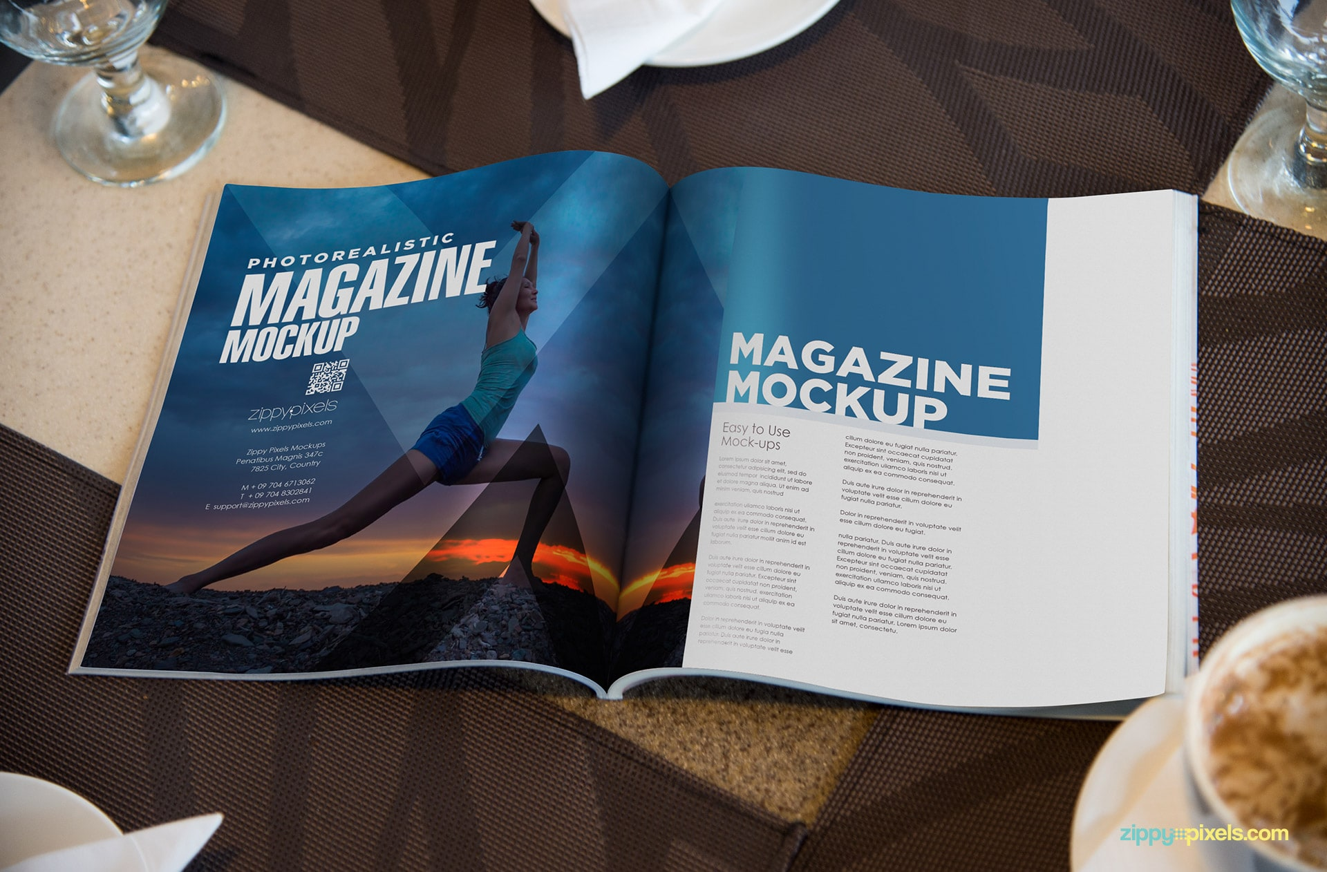 full spread mag mockup