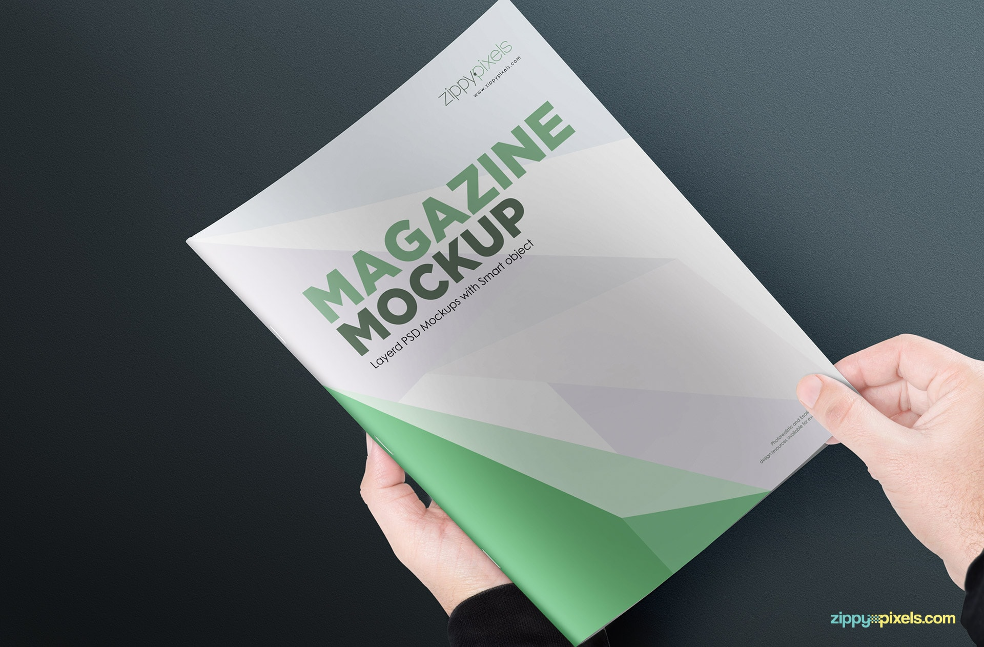simple and clean magazine mockup psds